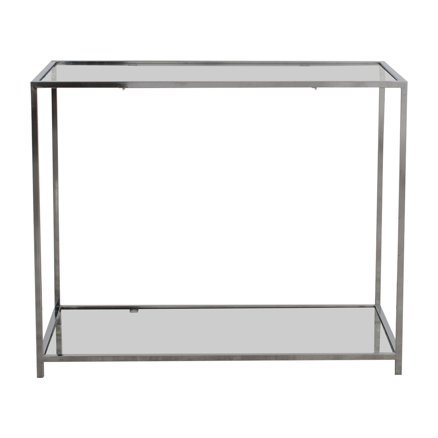 Metal and Glass Console Table on sale