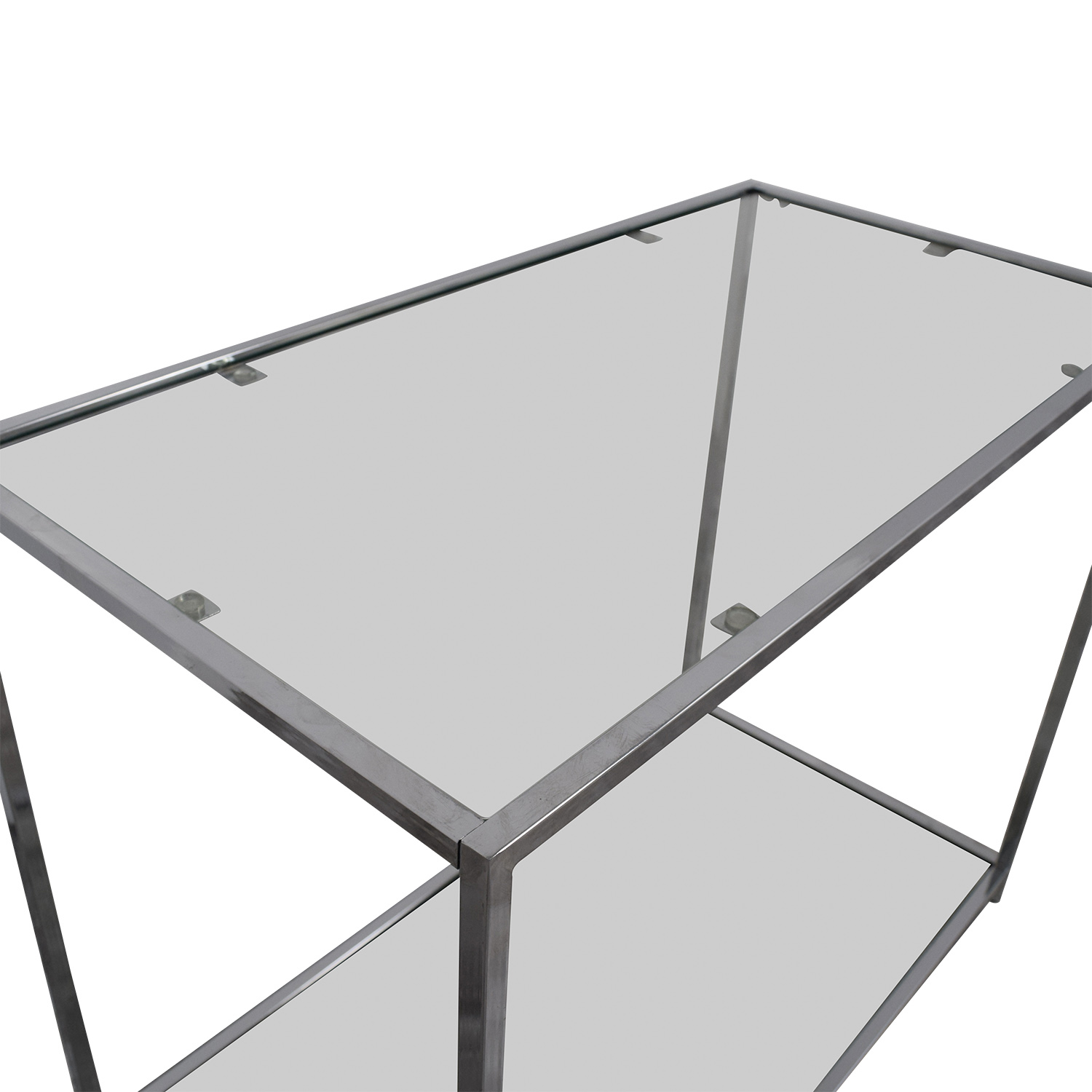 Metal and Glass Console Table sale