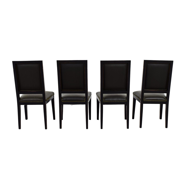 Crate & Barrel Crate & Barrel Sonata Dark Green Leather Chairs price