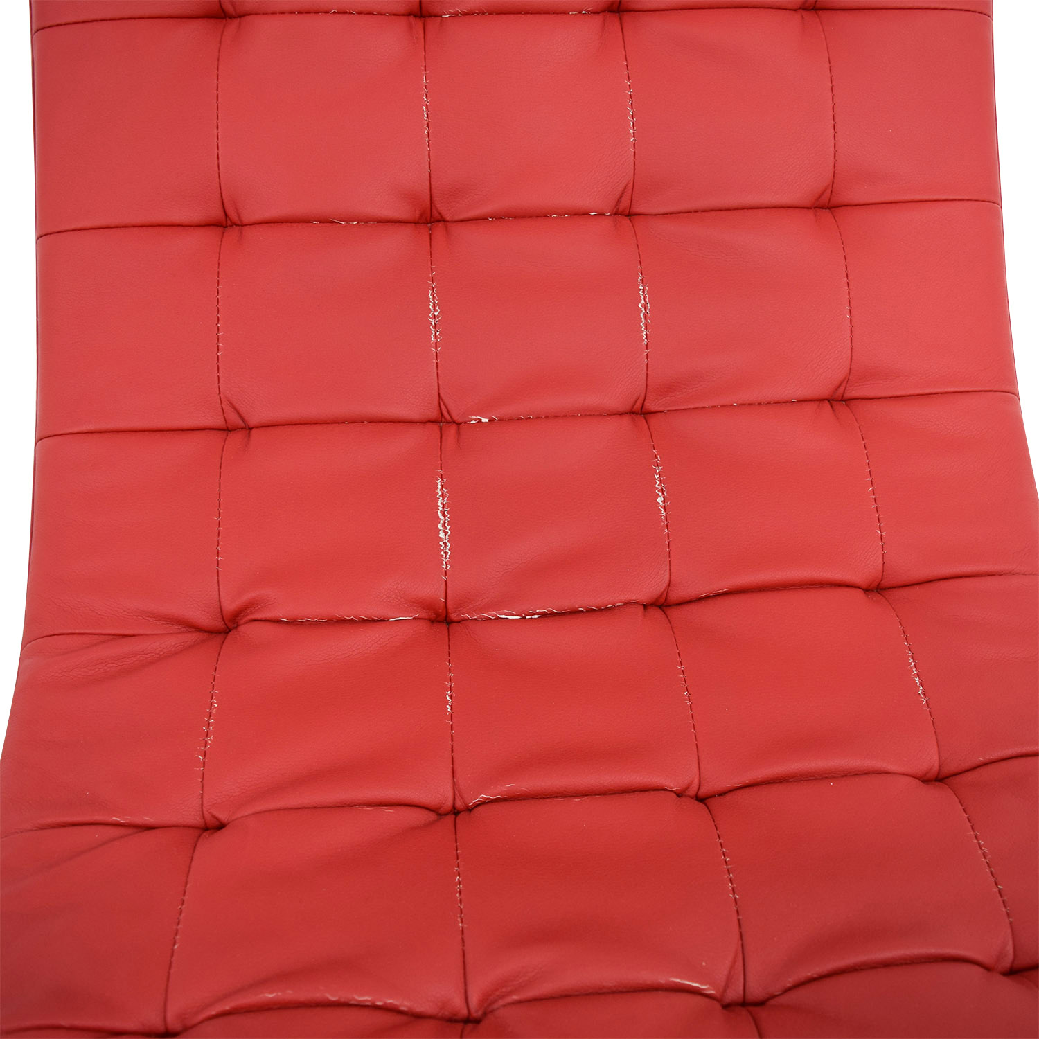 Red Tufted Chaise Lounge nj
