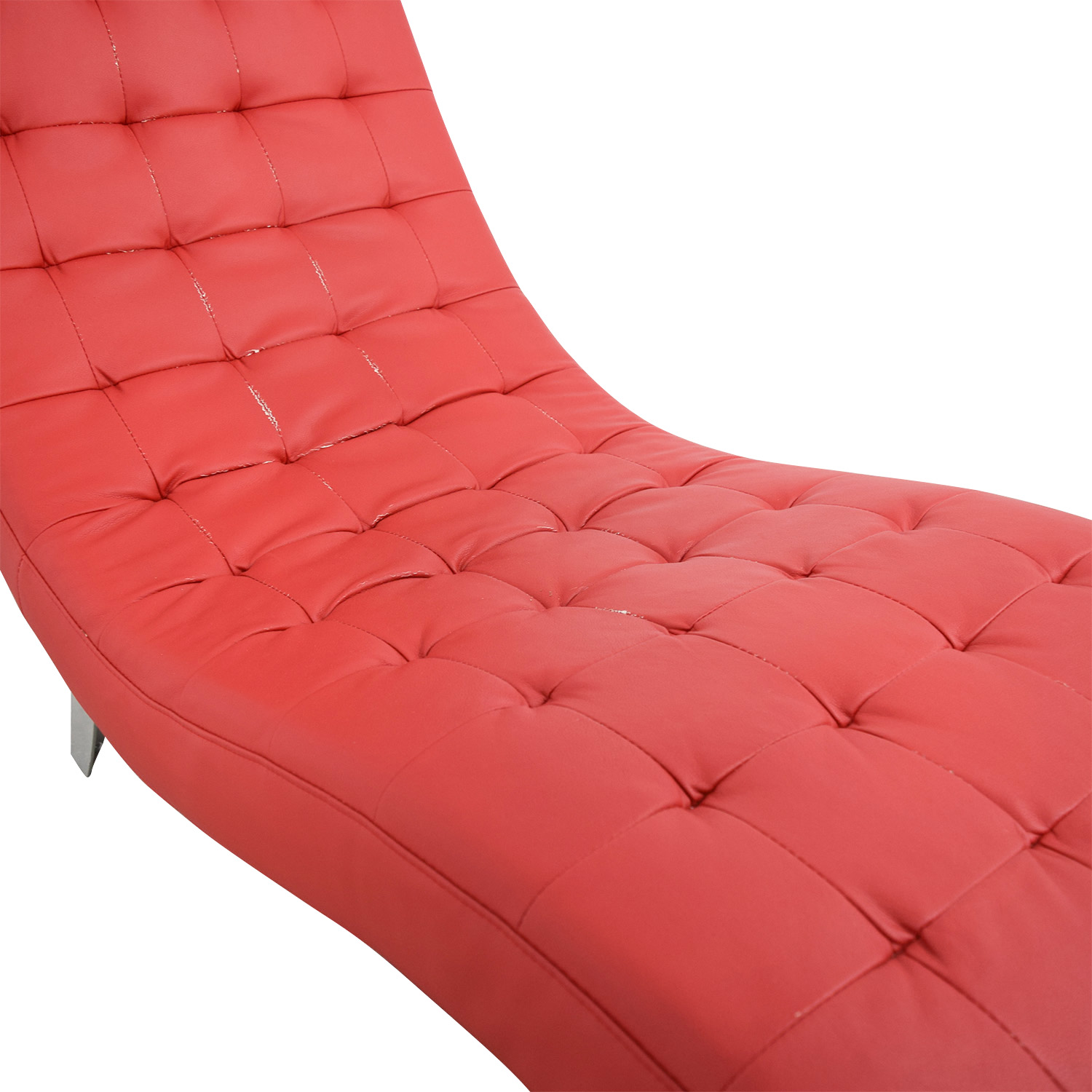Red Tufted Chaise Lounge