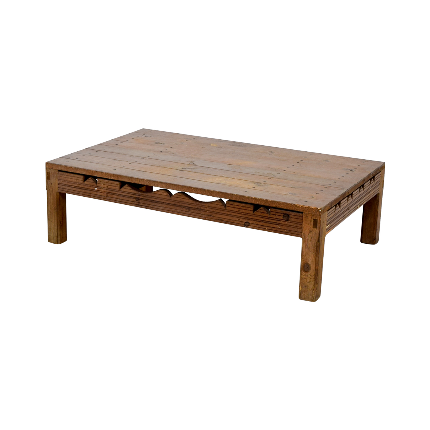 shop Rustic Coffee Table With Cutouts