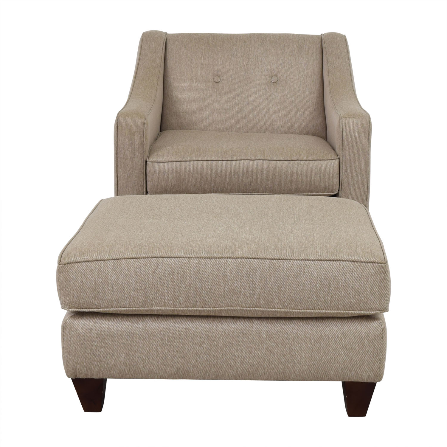 Star Furniture Star Furniture Colton Tufted Chair and Ottoman TAN