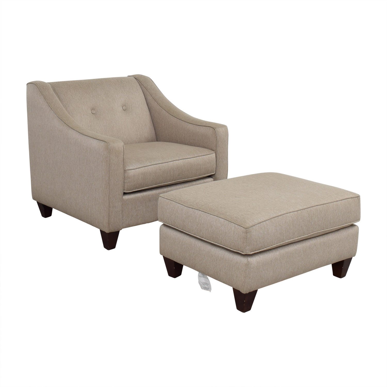 Sensational 84 Off Star Furniture Star Furniture Colton Tufted Chair And Ottoman Chairs Creativecarmelina Interior Chair Design Creativecarmelinacom