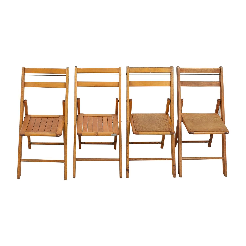 shop Rustic Wood Folding Chairs