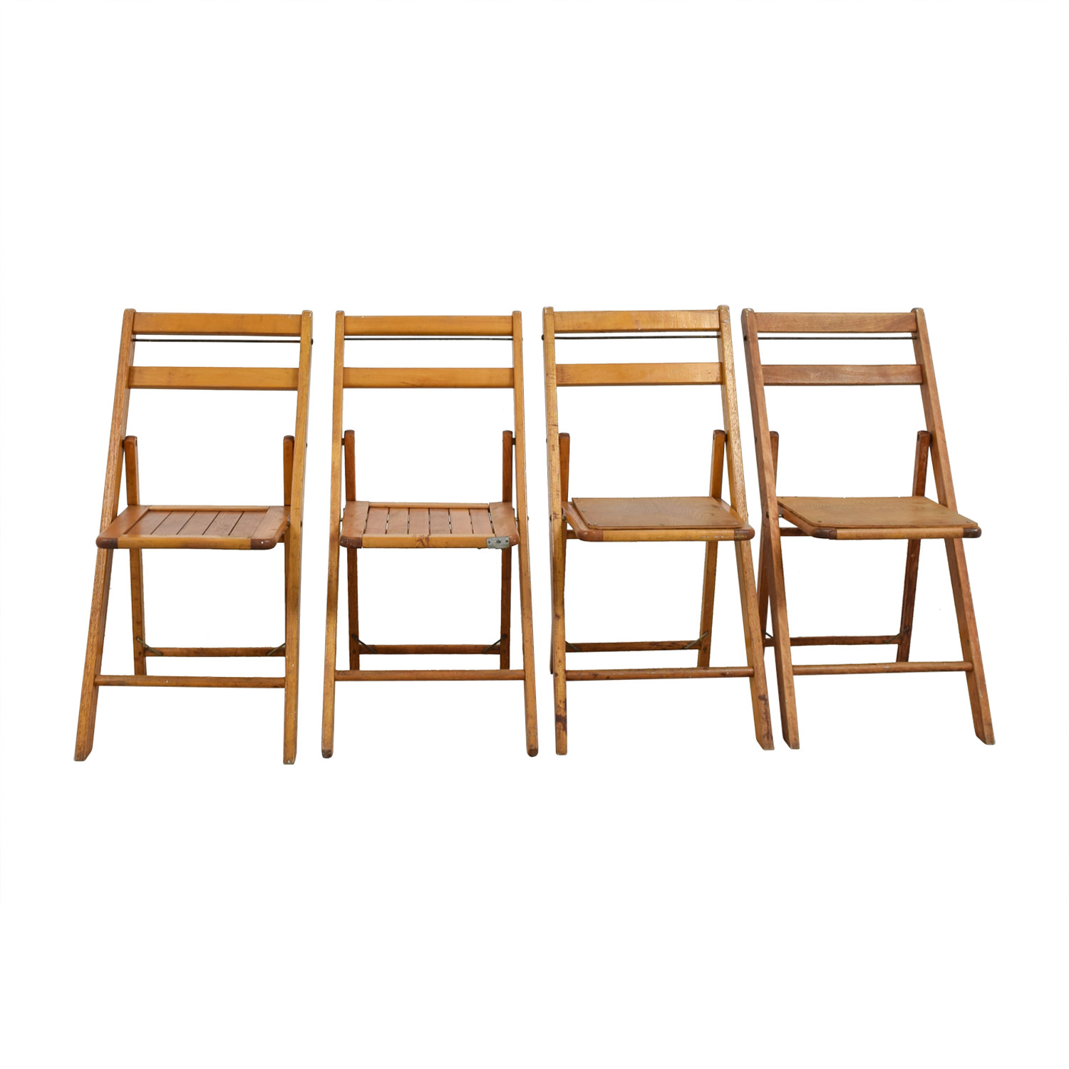 68 Off Rustic Wood Folding Chairs Chairs