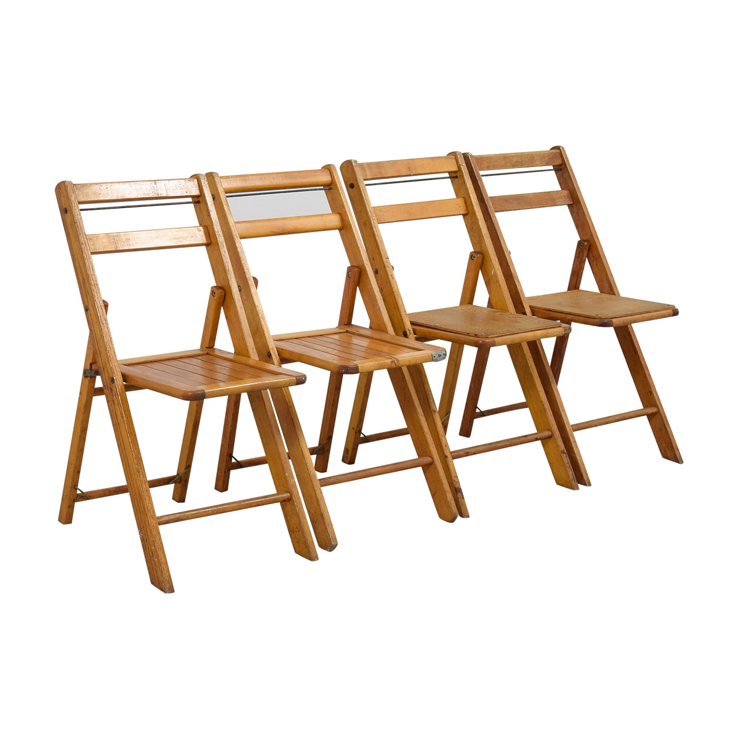 61% OFF Rustic Wood Folding Chairs Chairs