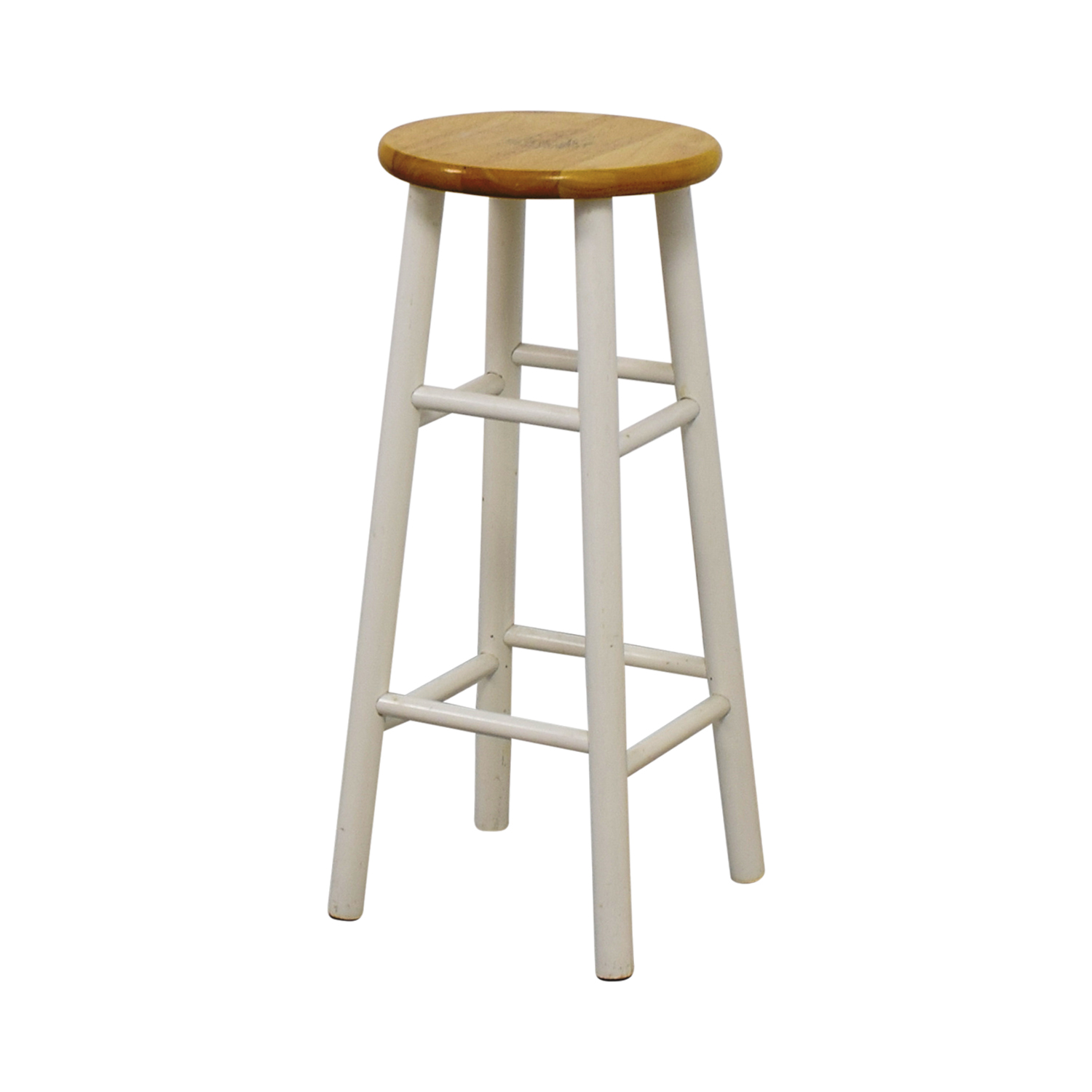 White Wood Barstool Beech / White
