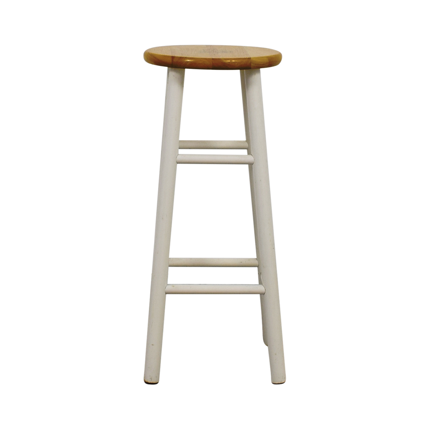 White Wood Barstool