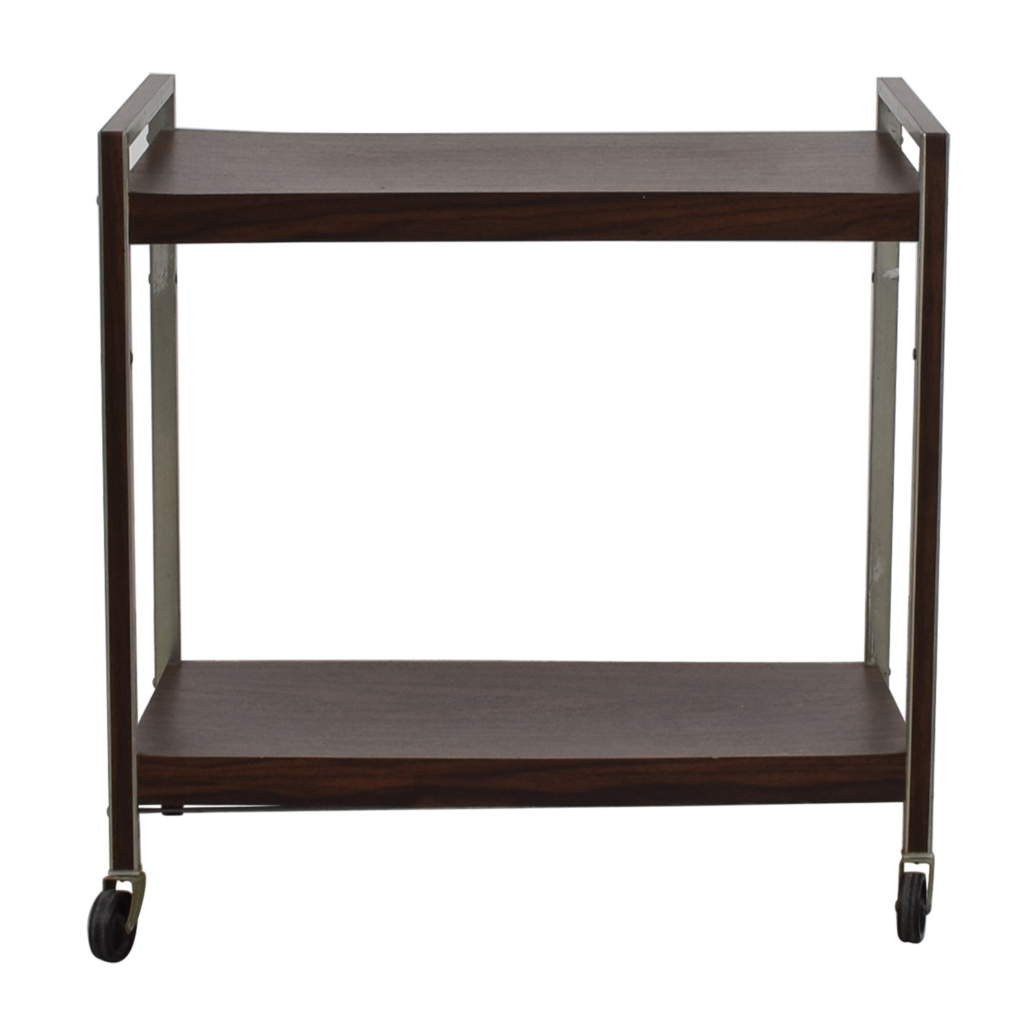 Rolling Bar Cart Dark Cherry