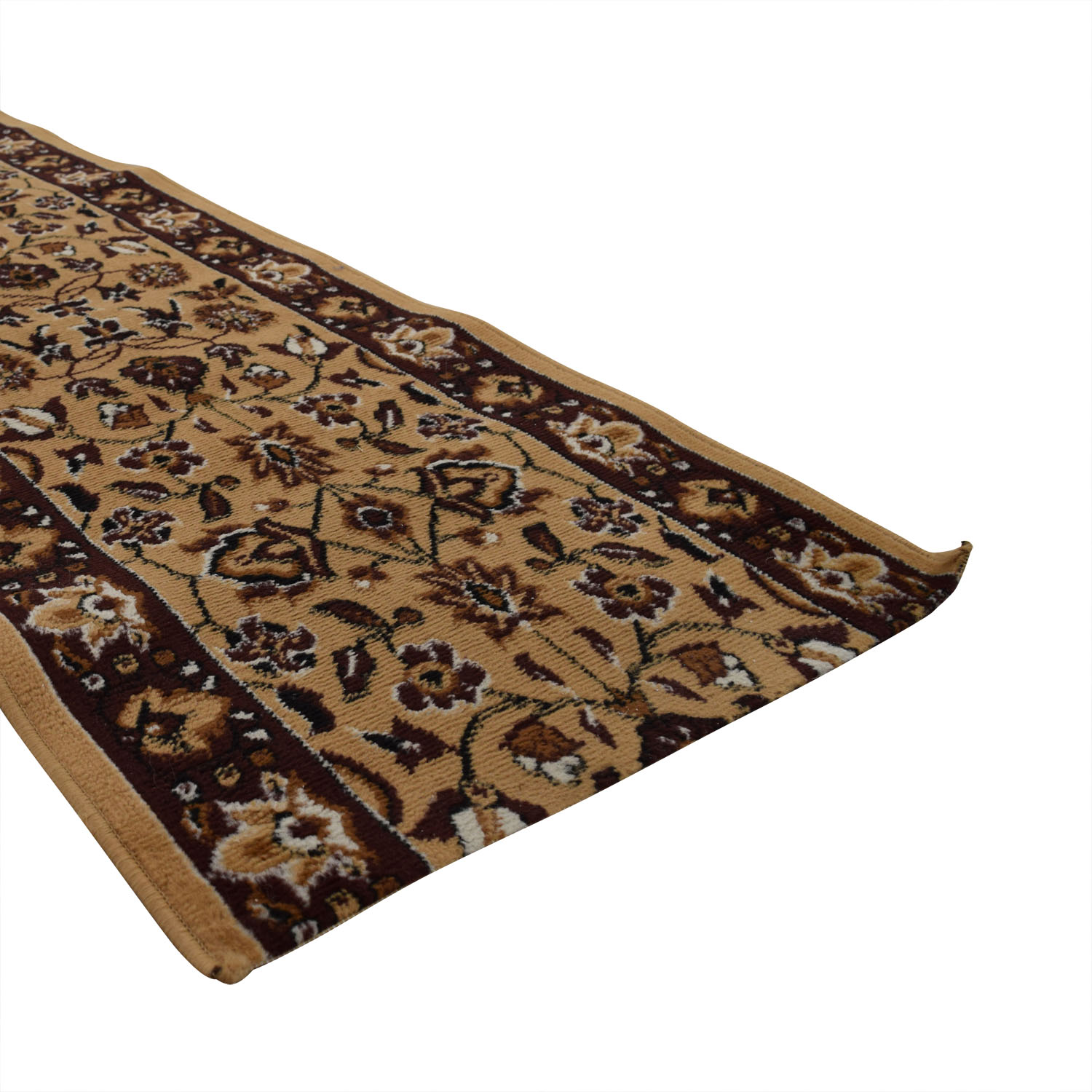 Brown Floral Rug Runner