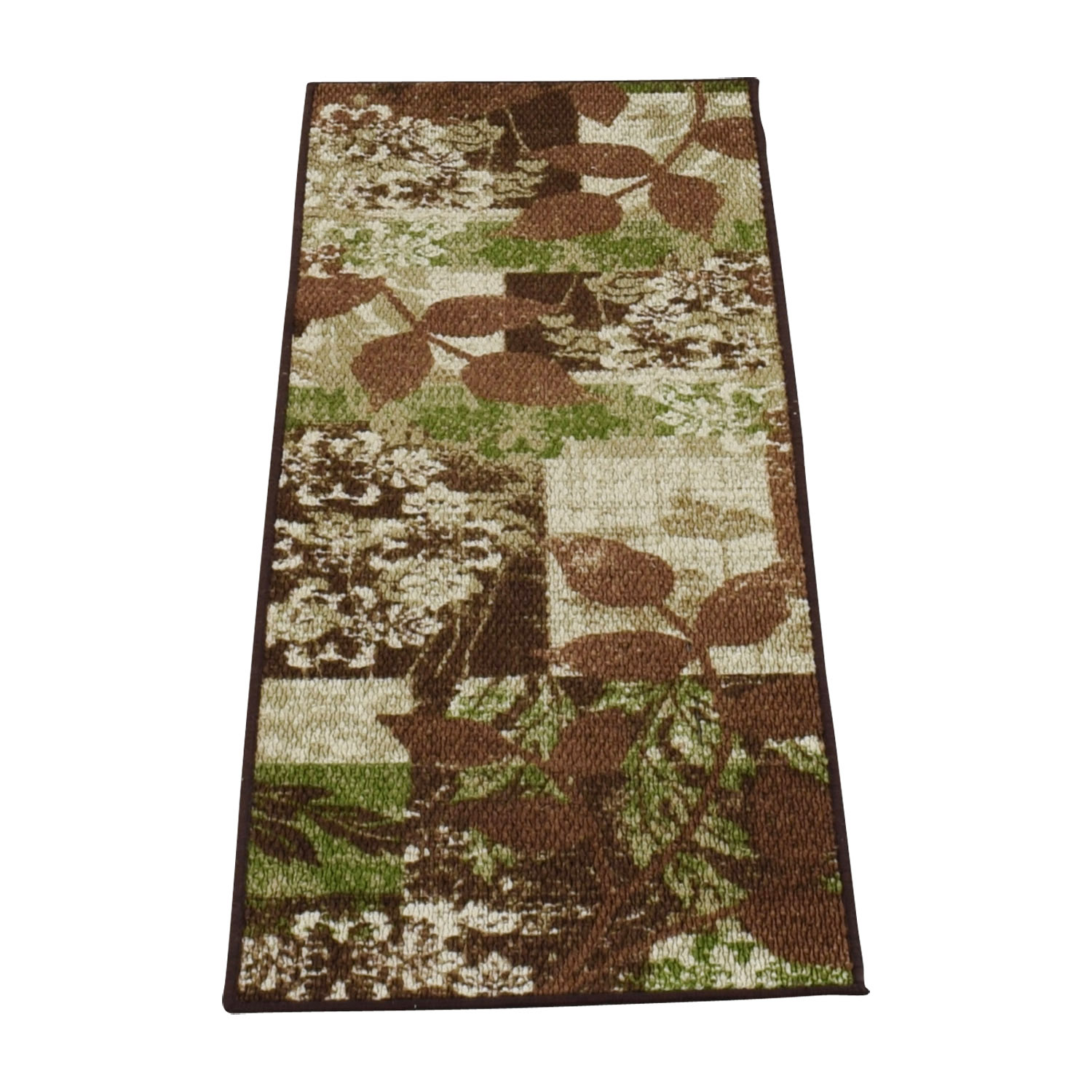 Green and Brown Floral Runner Decor
