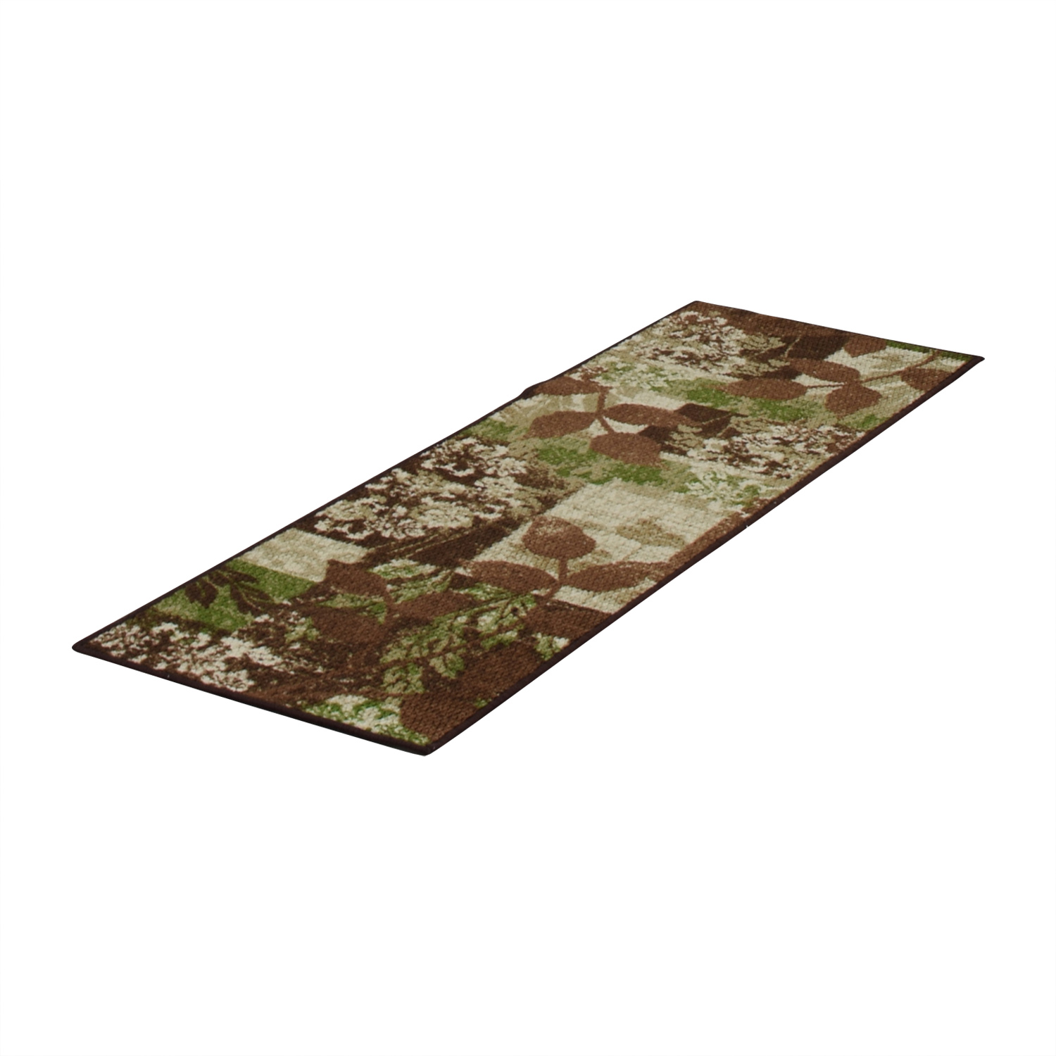Green and Brown Floral Runner