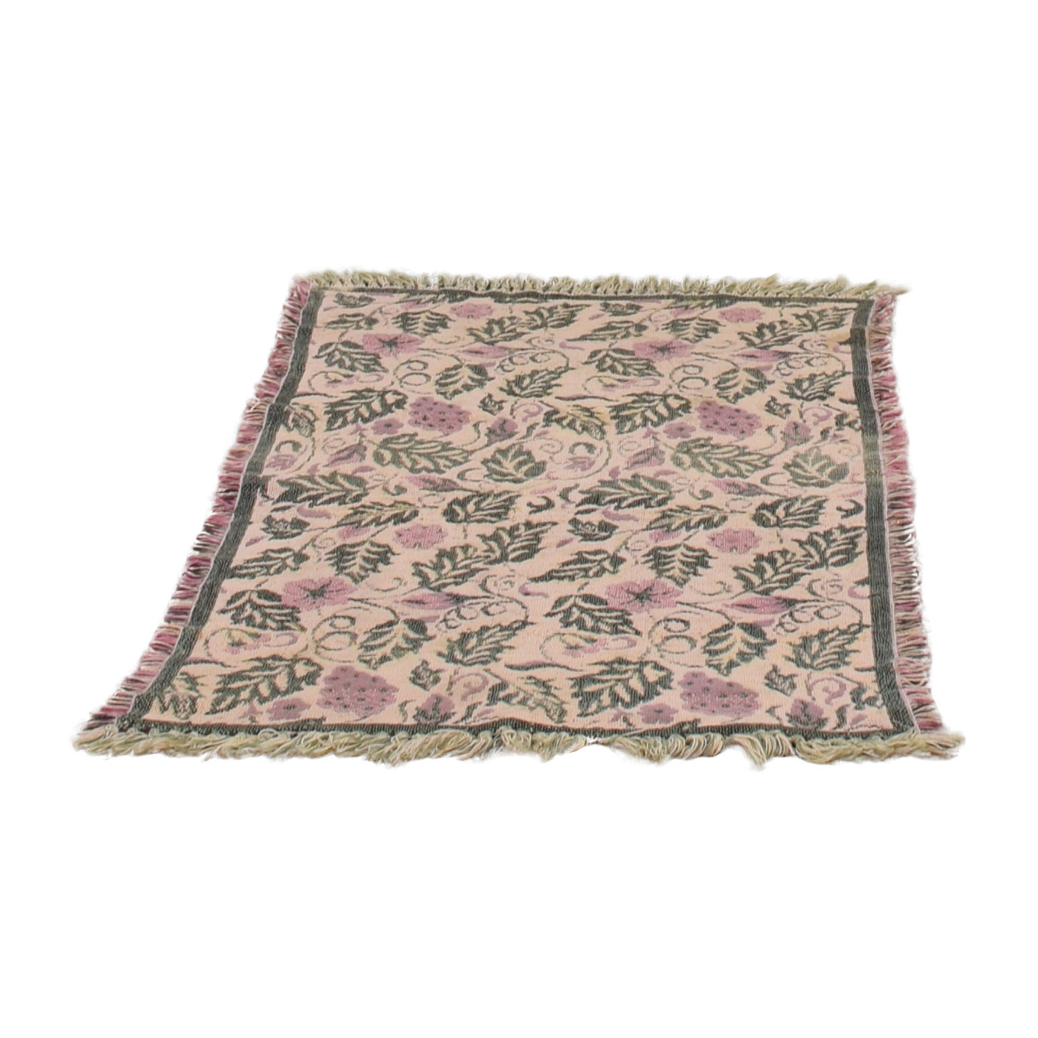 Floral and Grape Rug / Decor