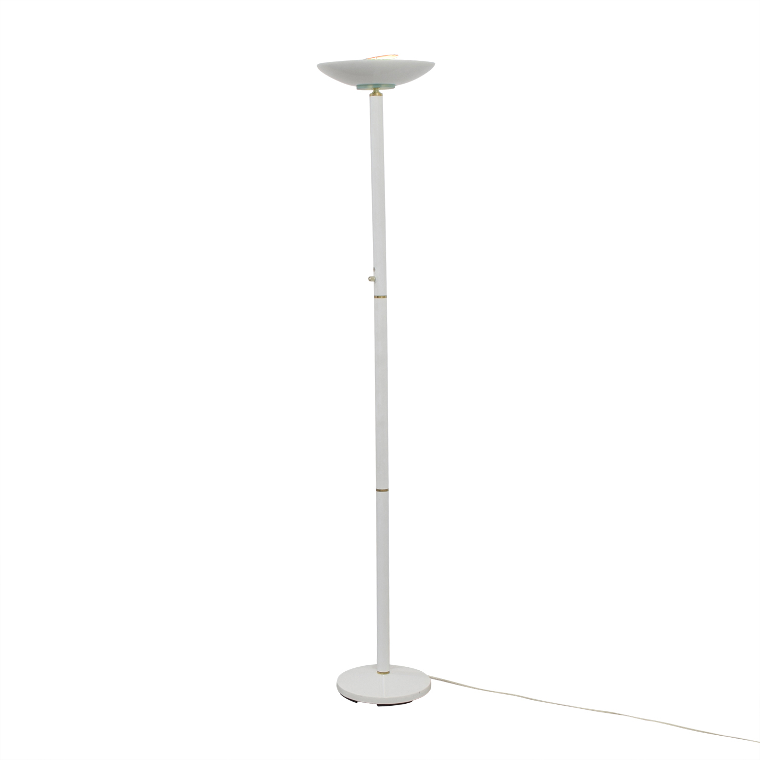 White Metal Floor Lamp Lamps