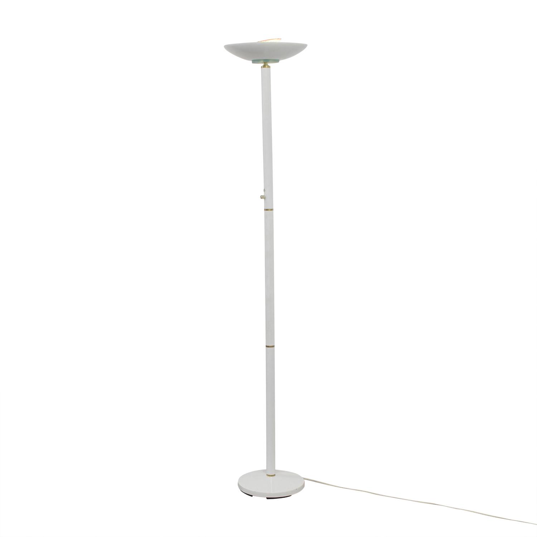 White Metal Floor Lamp Lamps