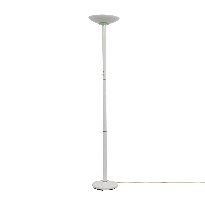 White Metal Floor Lamp