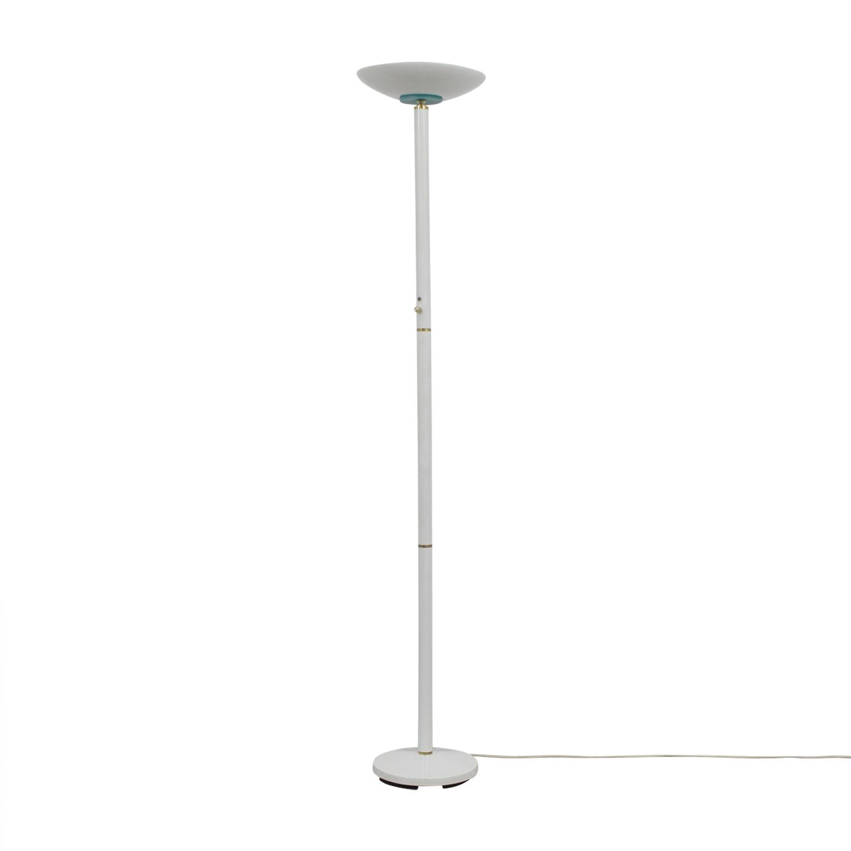 White Metal Floor Lamp / Decor