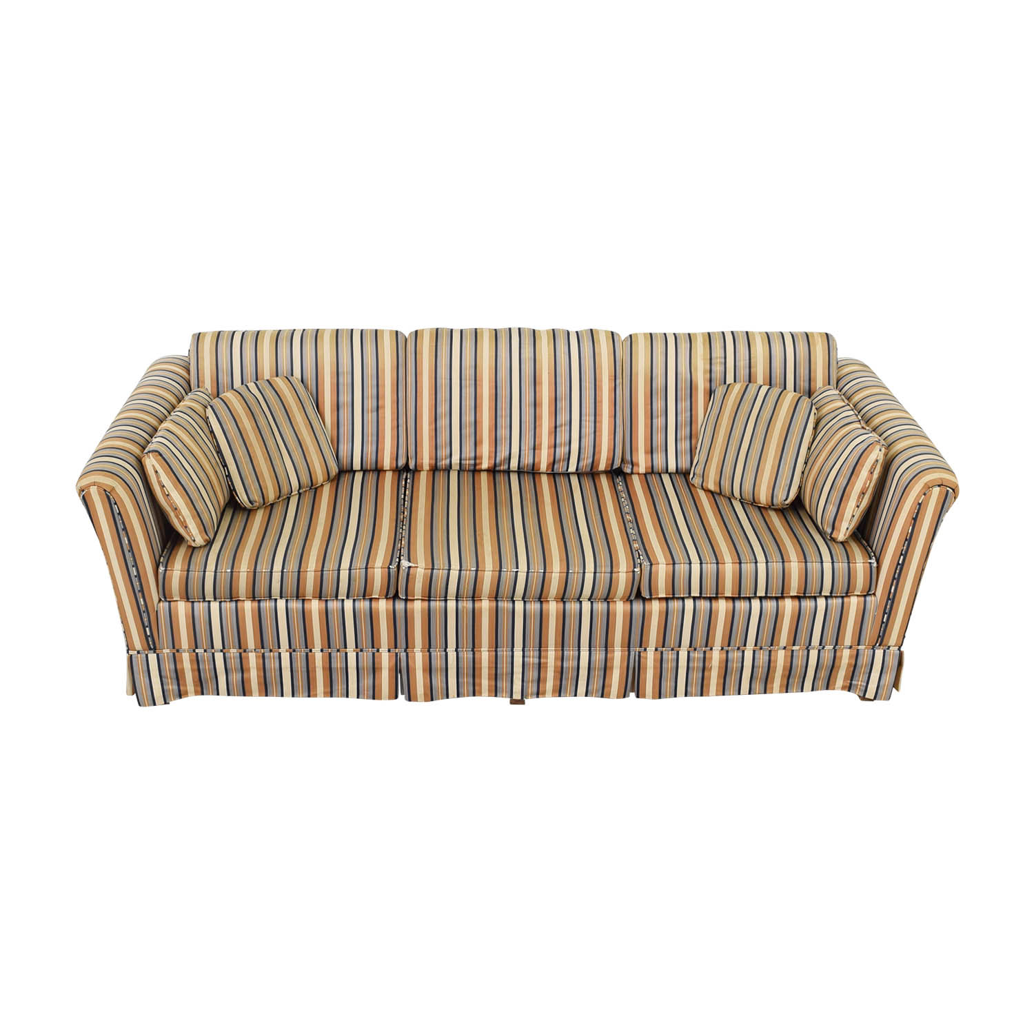 Striped Three-Seater Sofa nj