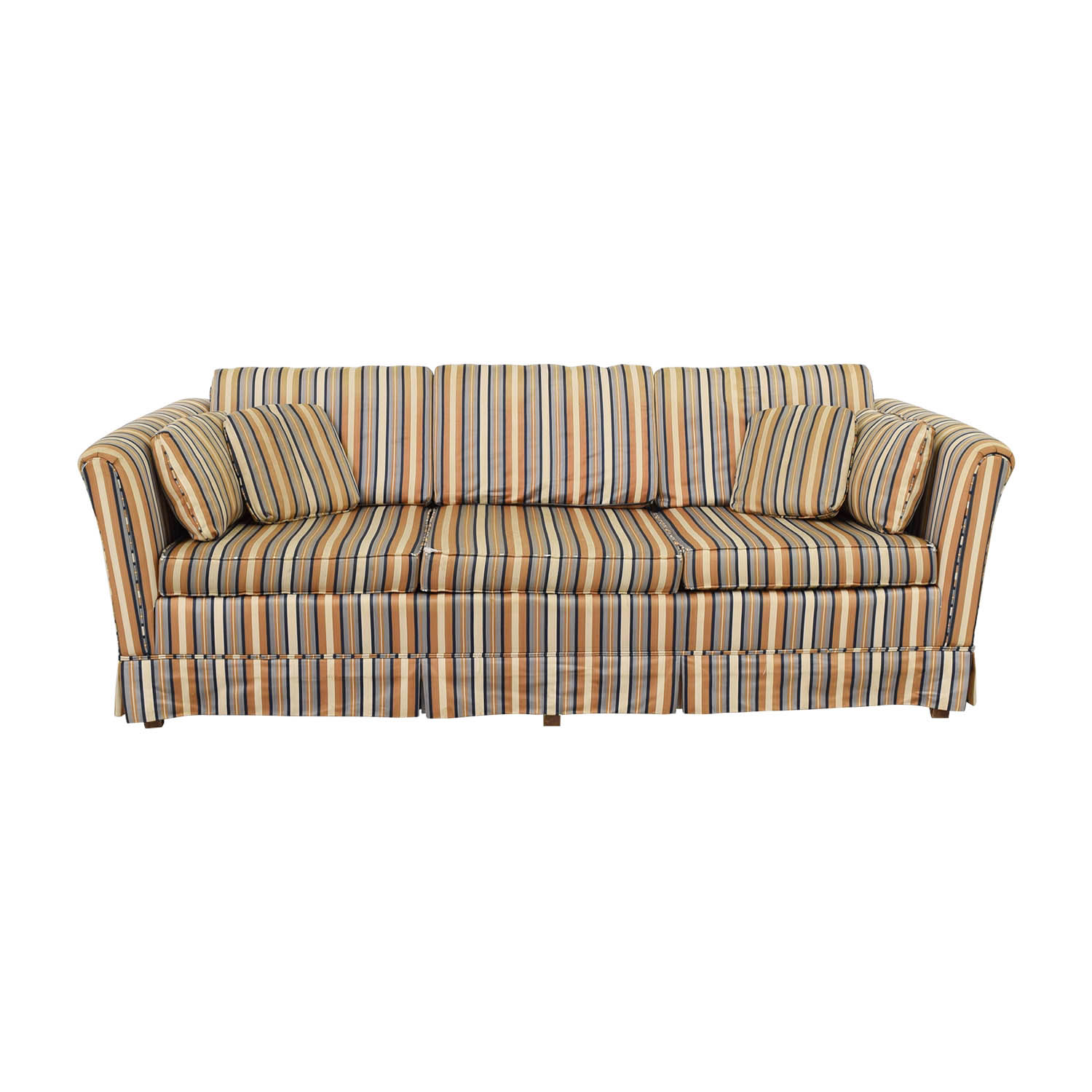 Striped Three-Seater Sofa