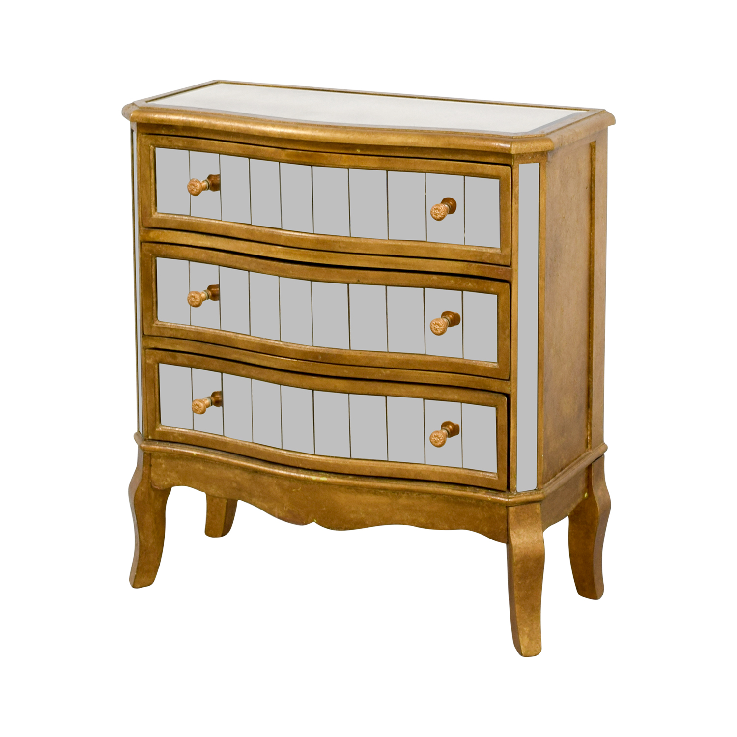 Pier 1 Imports Pier 1 Imports Mirrored Chest Gold