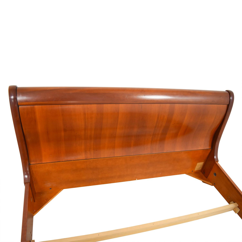 buy Grange Cherry Wood Demi Sleigh Queen Bed Grange Beds