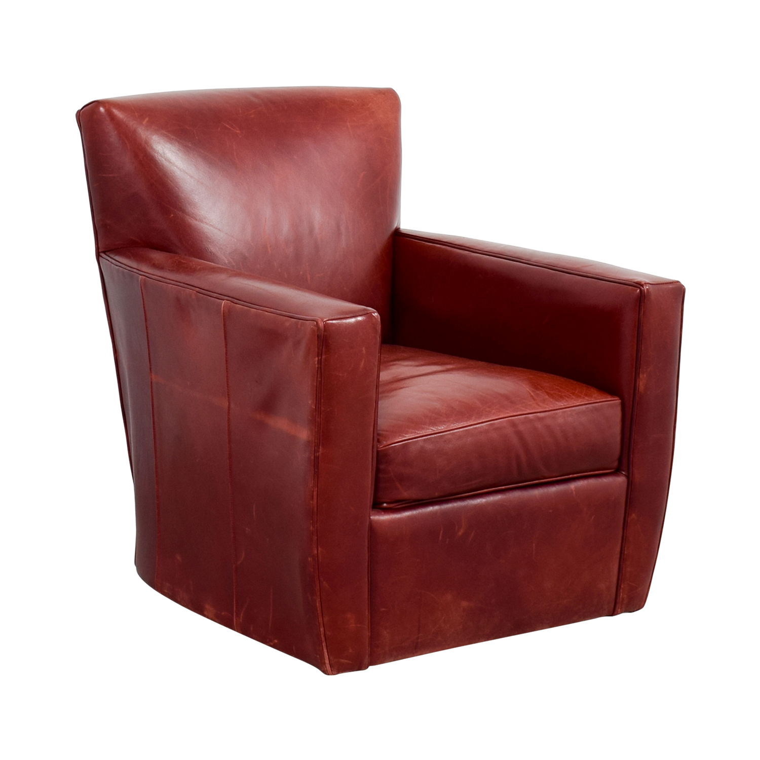 ... Crate U0026 Barrel Crate U0026 Barrel Leather Swivel Chair Discount ...