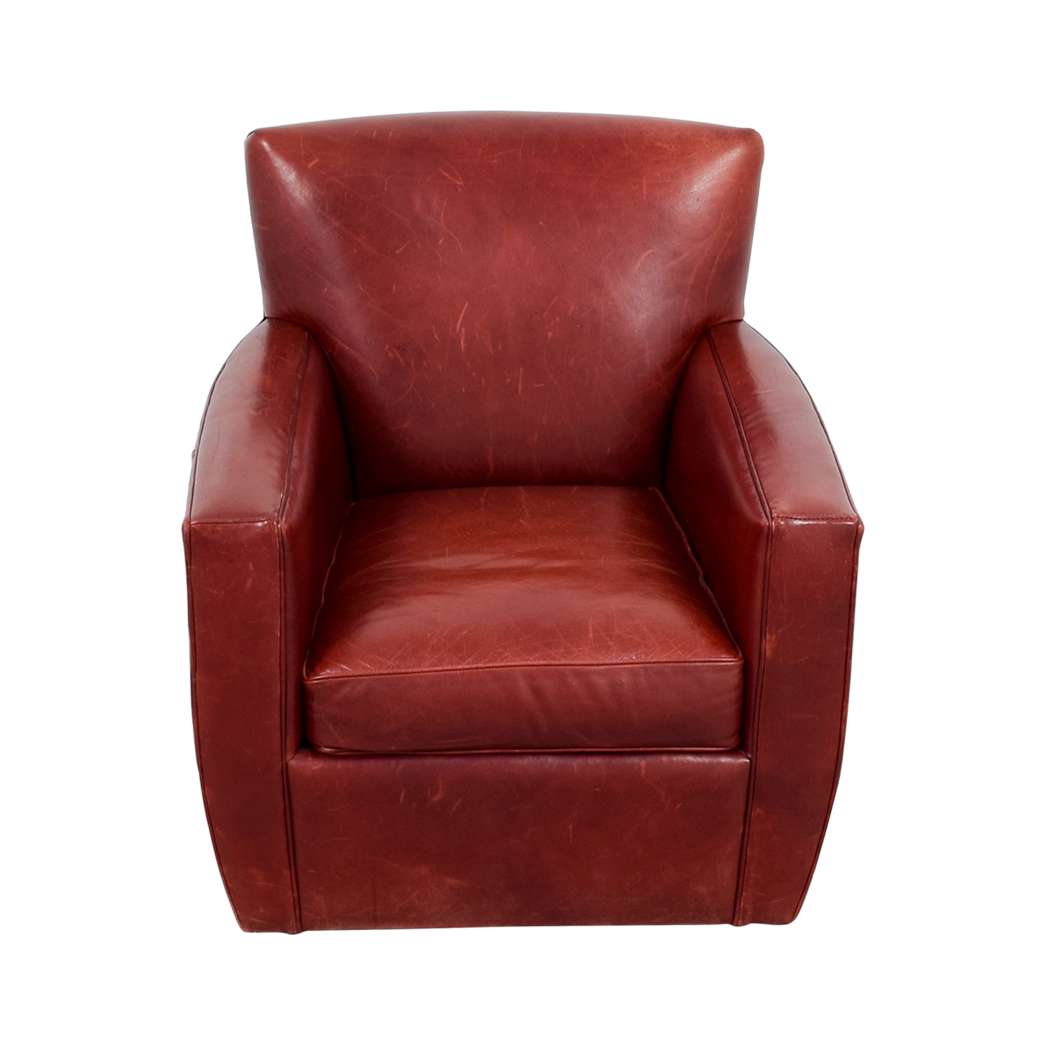 Incroyable ... Crate U0026 Barrel Leather Swivel Chair / Chairs ...