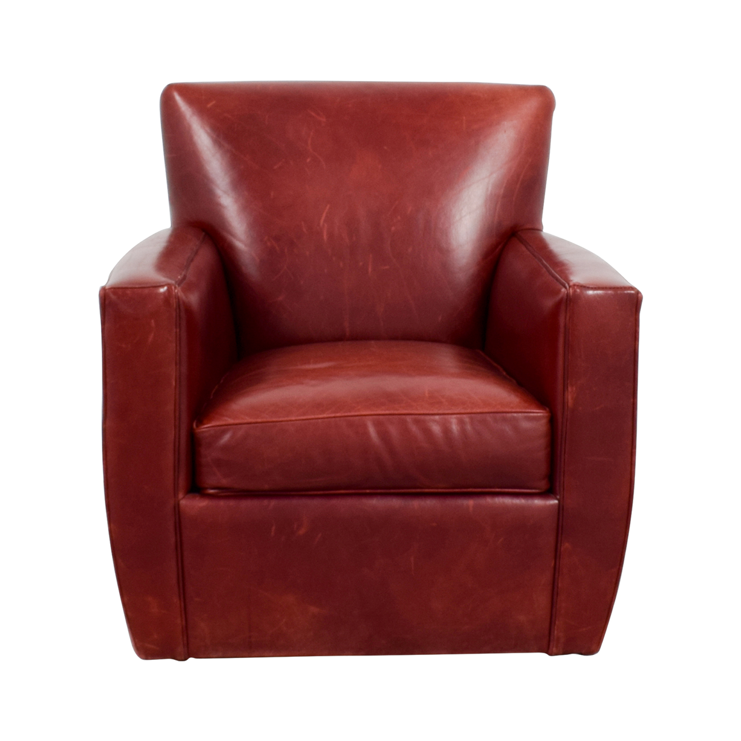 Crate & Barrel Crate & Barrel Leather Swivel Chair nyc