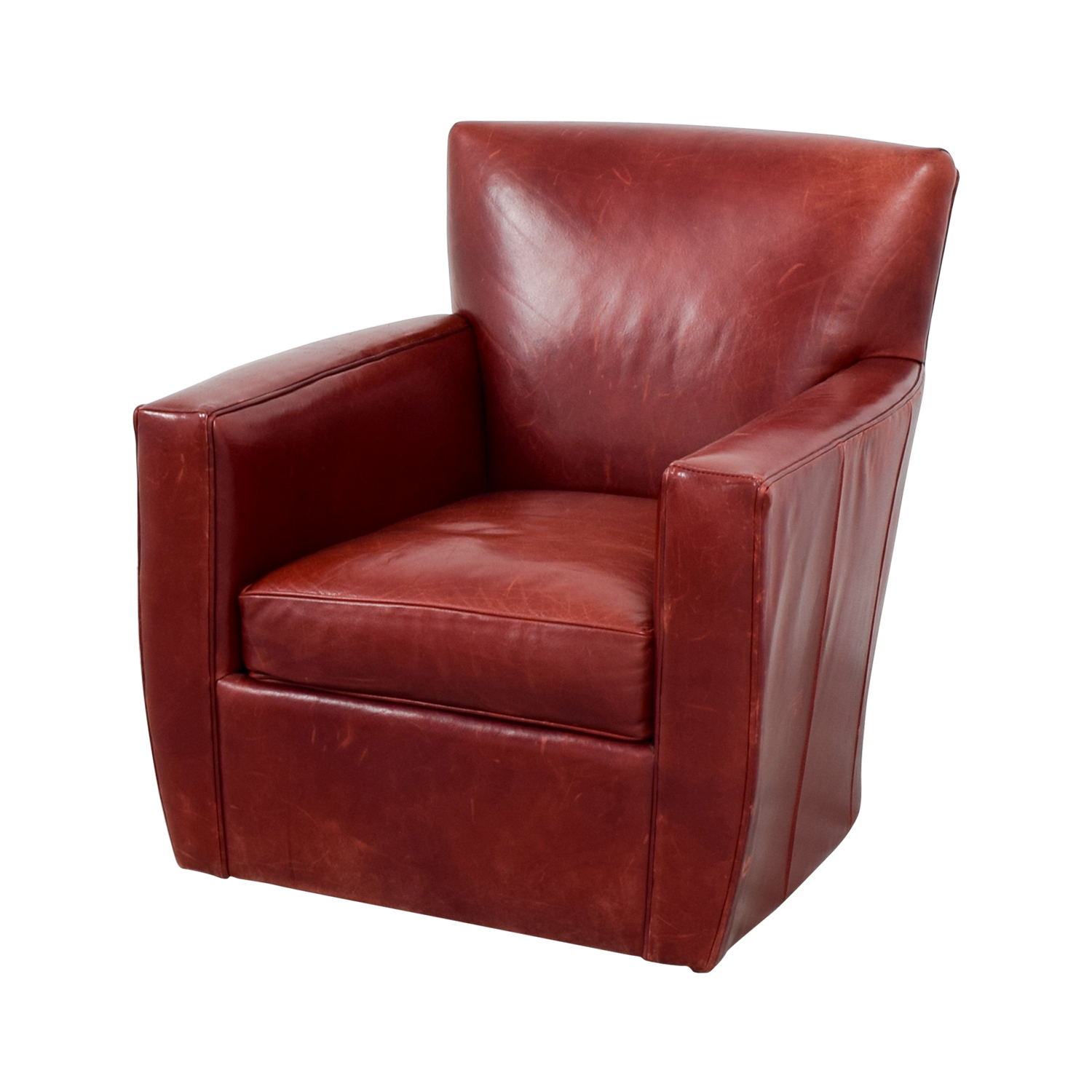 Pleasant 79 Off Crate Barrel Crate Barrel Leather Swivel Chair Chairs Uwap Interior Chair Design Uwaporg