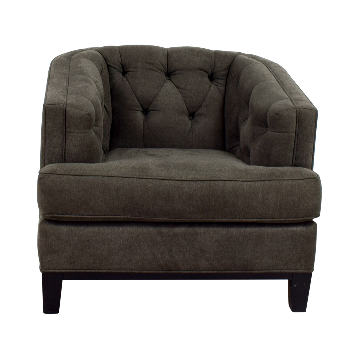 Rooms To Go Rooms To Go Grey Tufted Chair Grey