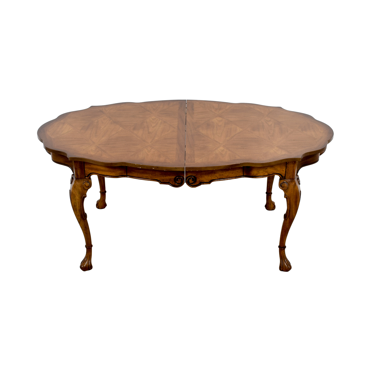 Carved Extendable Wood Dining Table dimensions