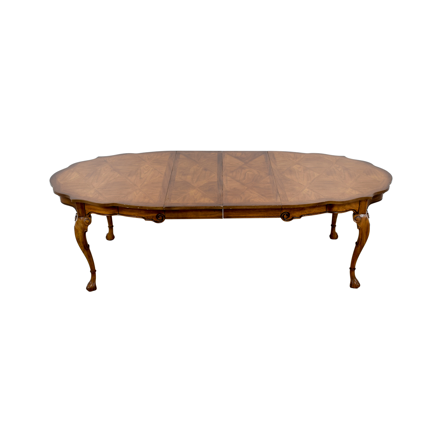 Carved Extendable Wood Dining Table Dinner Tables
