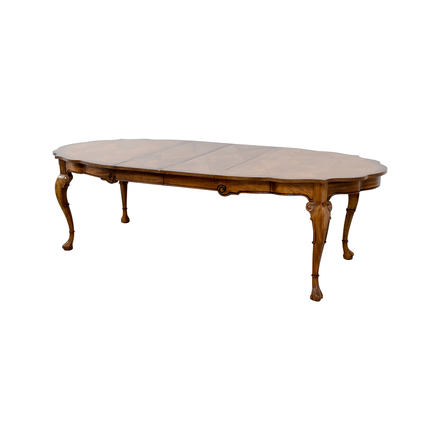 Carved Extendable Wood Dining Table Tables