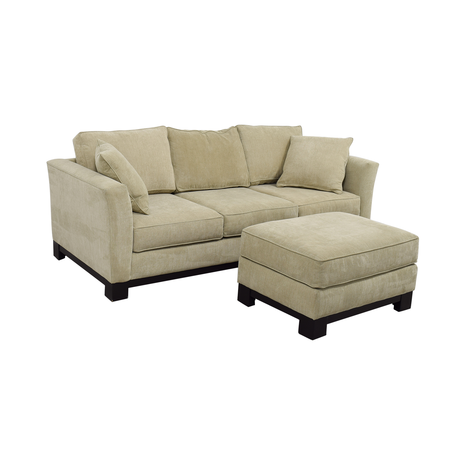 buy Macy's Grey Fabric Couch and Large Ottoman Macy's Sofas