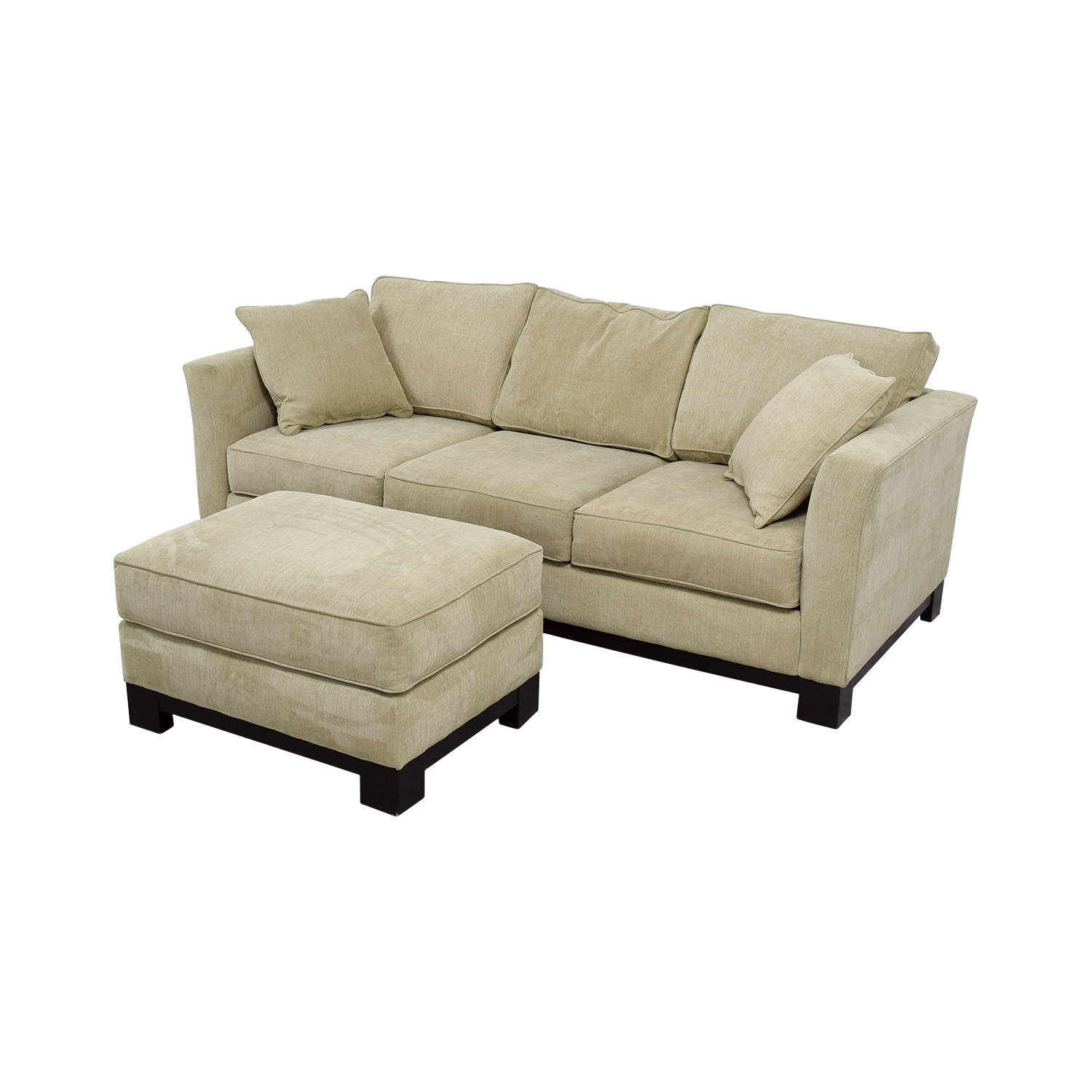 buy Macy's Macy's Grey Fabric Couch and Large Ottoman online