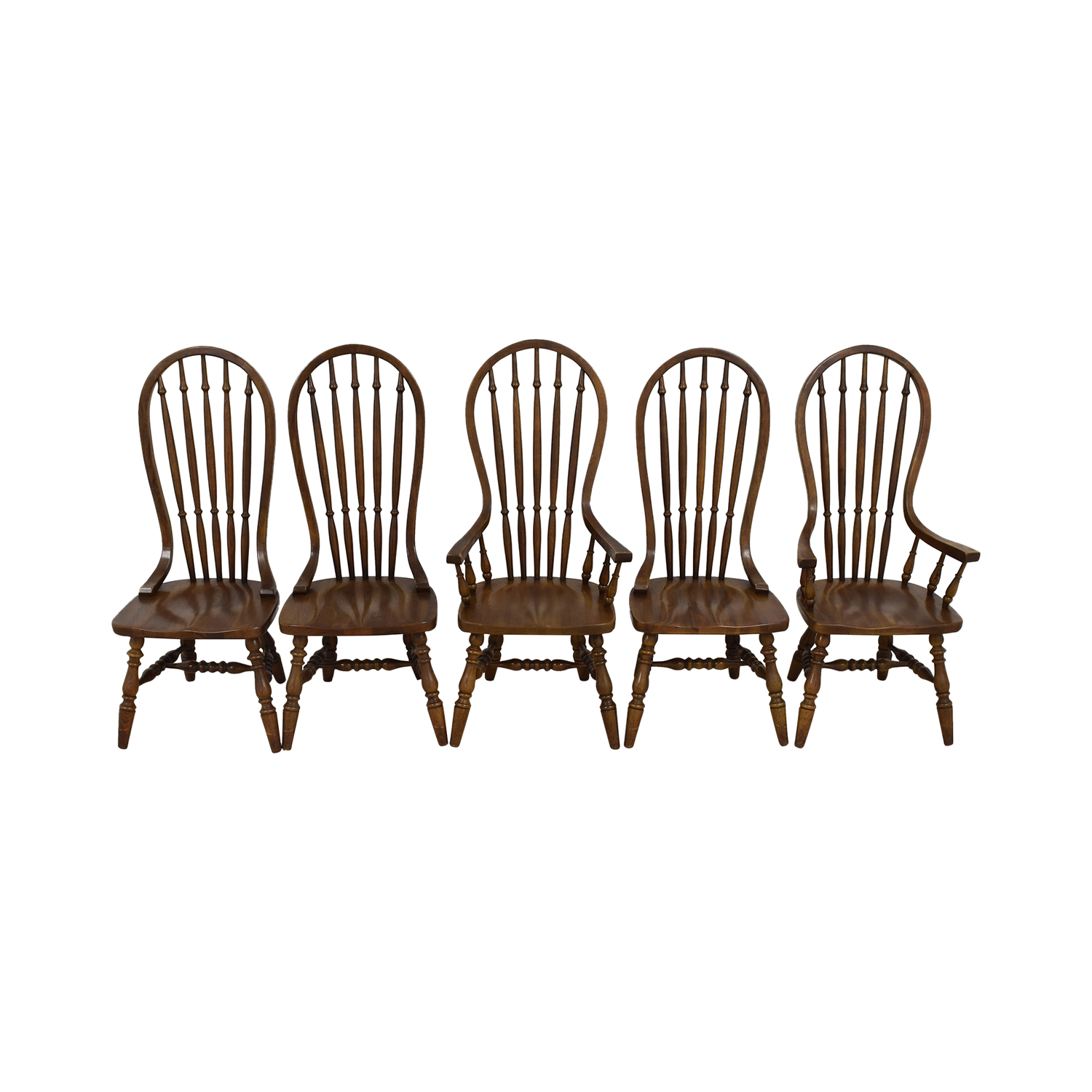 shop Antique Oak Spindle Dining Chairs Chairs