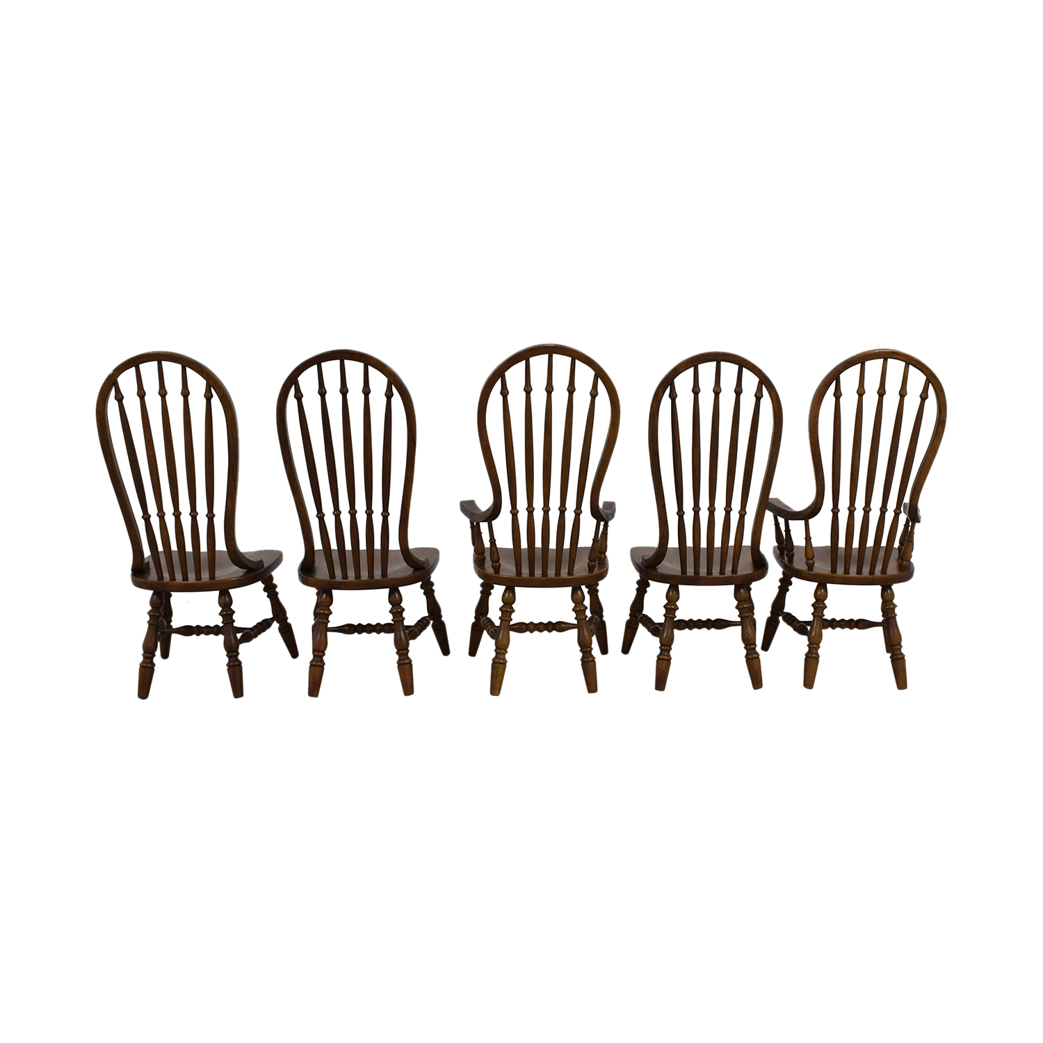 buy Antique Oak Spindle Dining Chairs