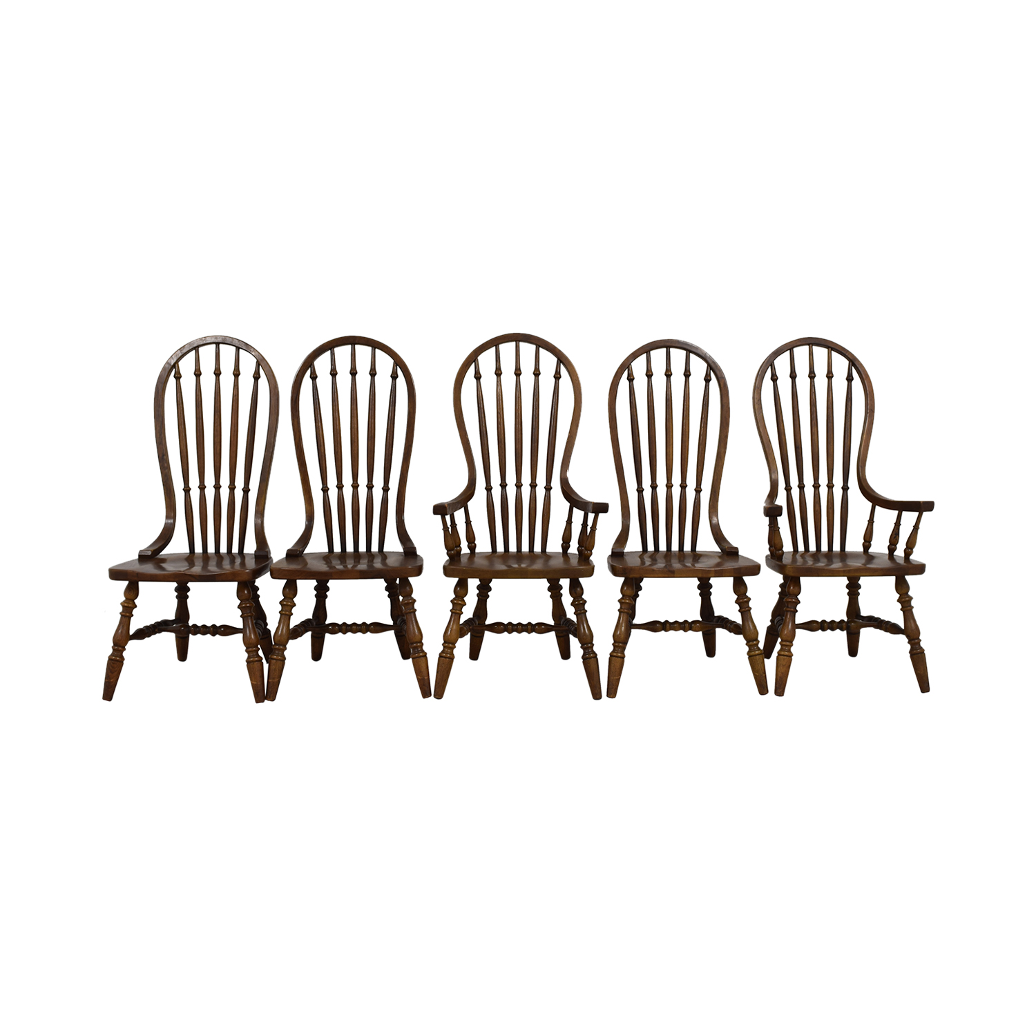 Antique Oak Spindle Dining Chairs coupon