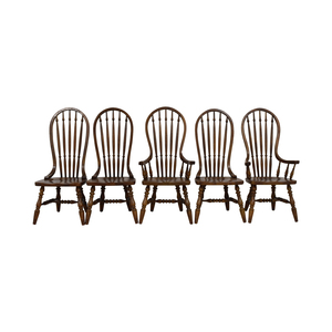 Antique Oak Spindle Dining Chairs for sale
