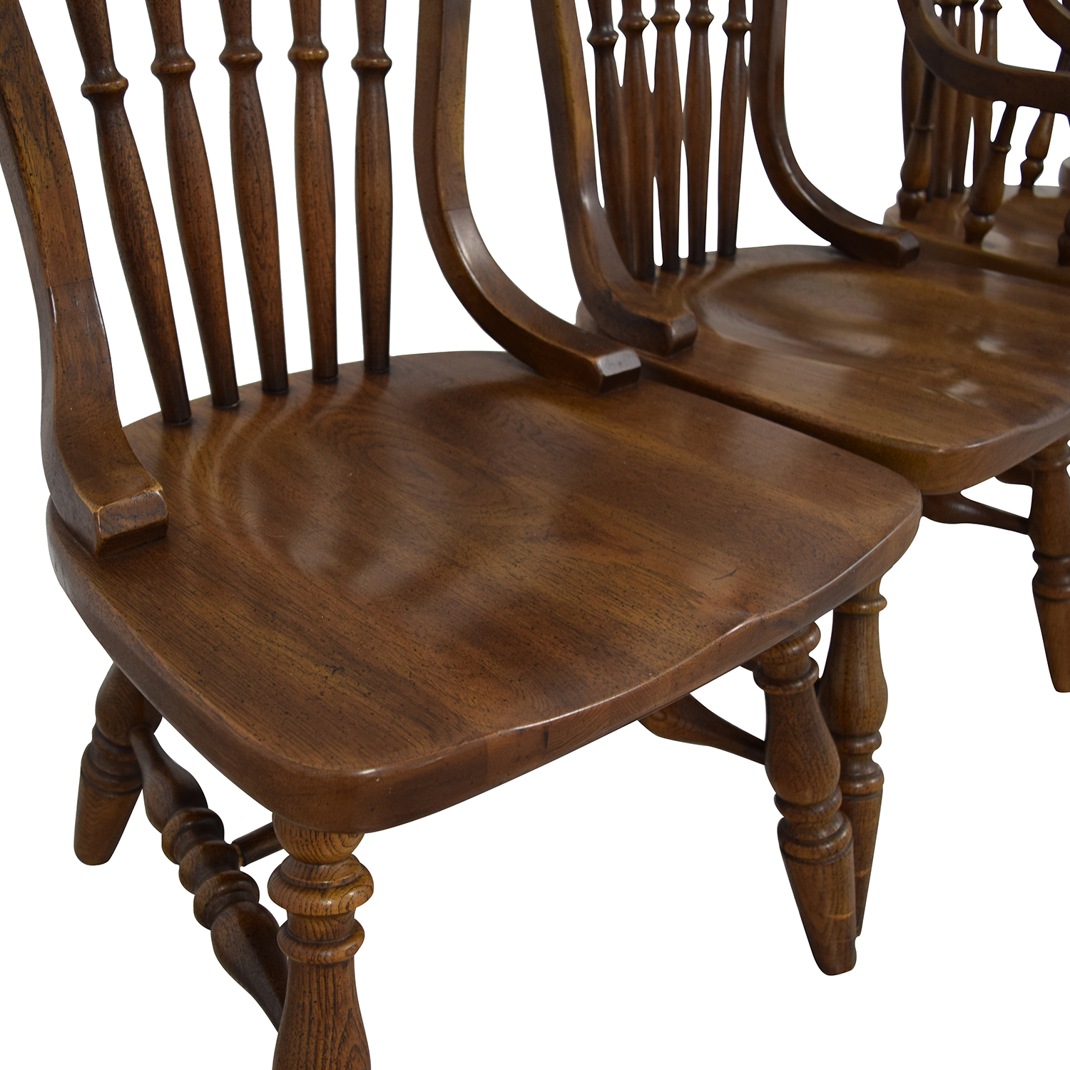 Antique Oak Spindle Dining Chairs discount