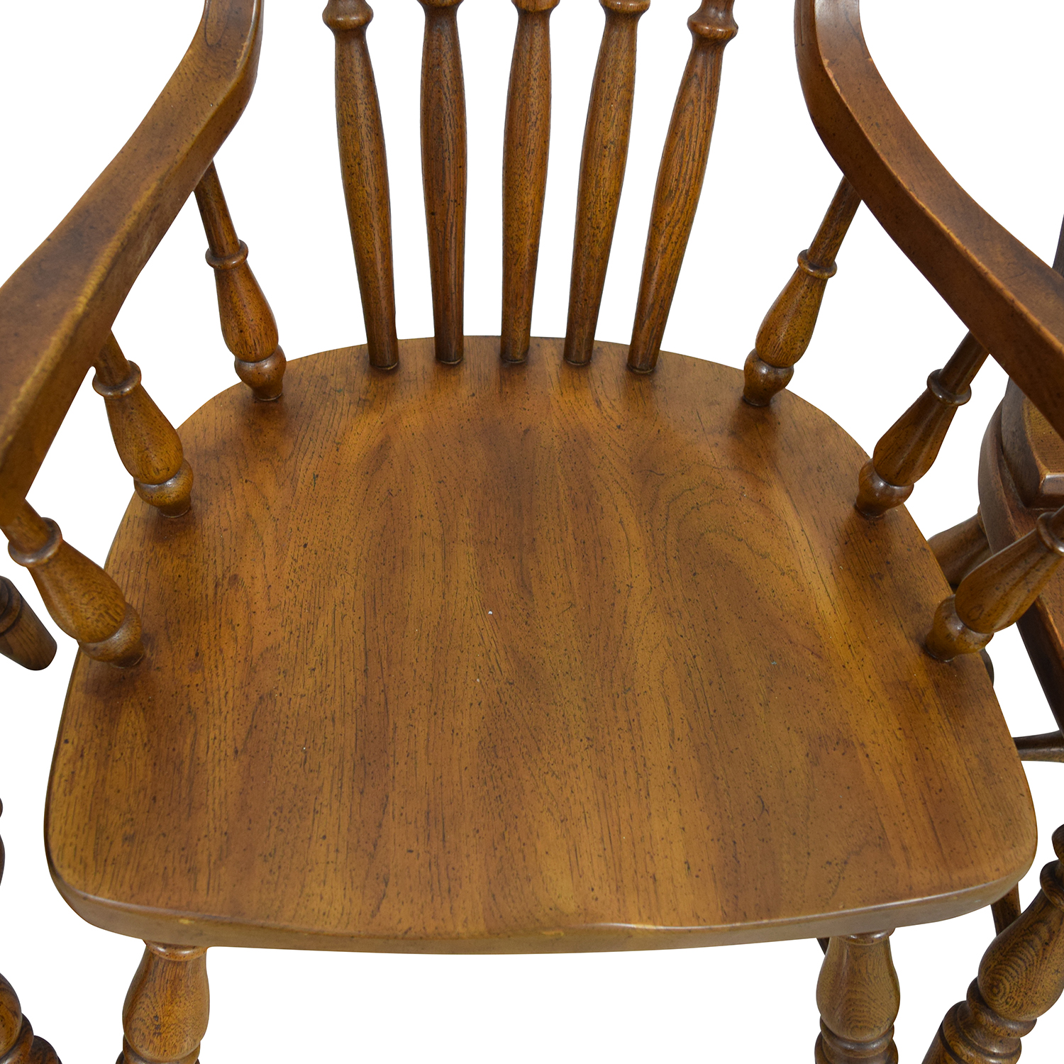 Antique Oak Spindle Dining Chairs used