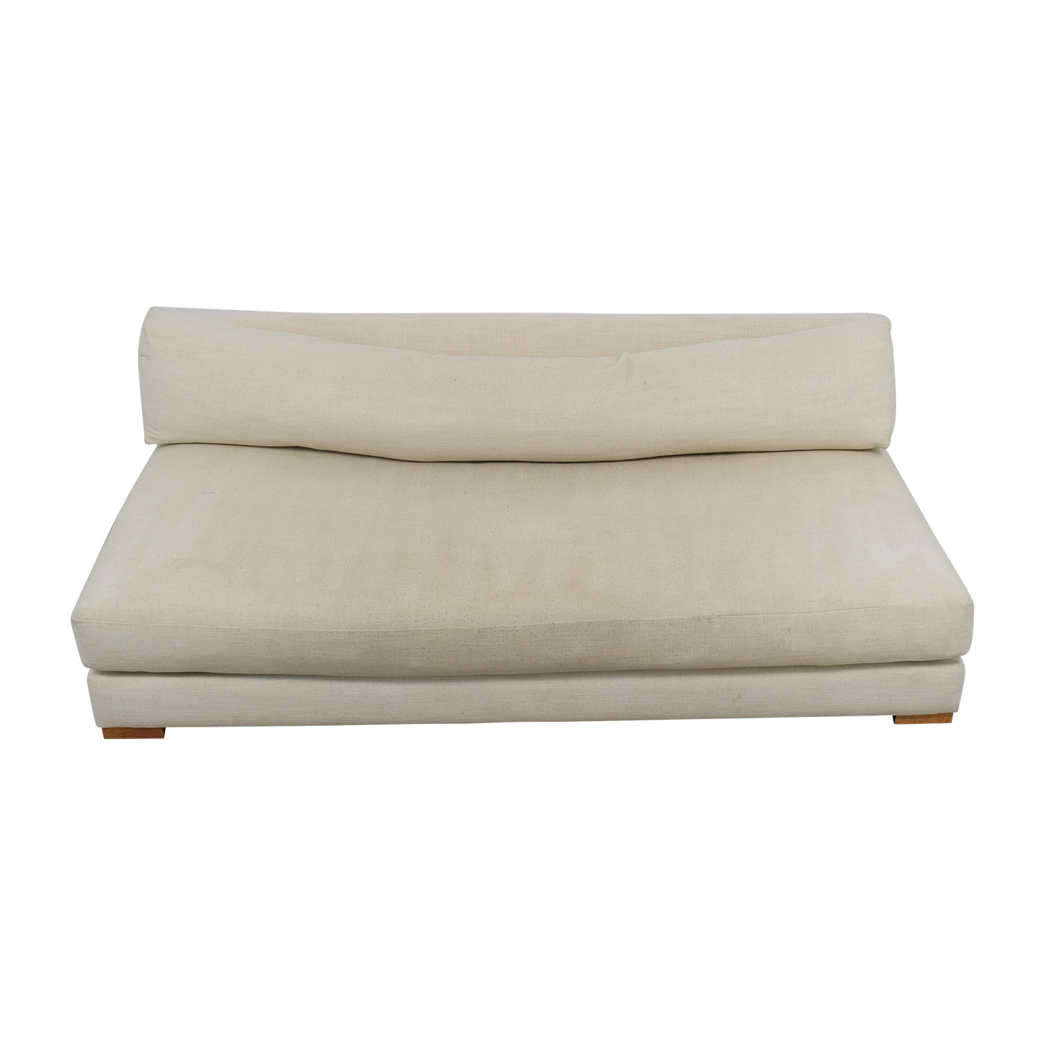 shop CB2 Piazza White Single Cushion Sofa CB2 Sofas
