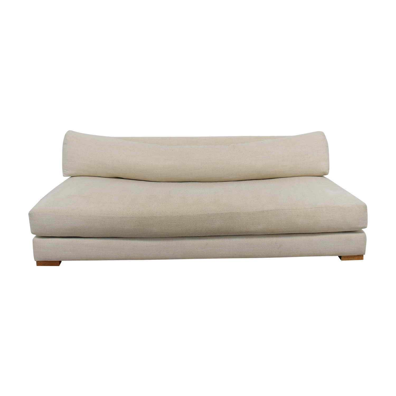 shop CB2 CB2 Piazza White Single Cushion Sofa online