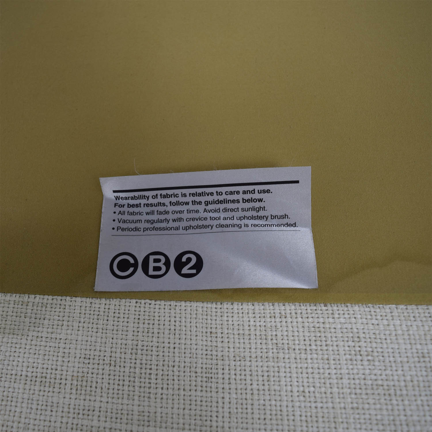 CB2 Piazza White Single Cushion Sofa sale