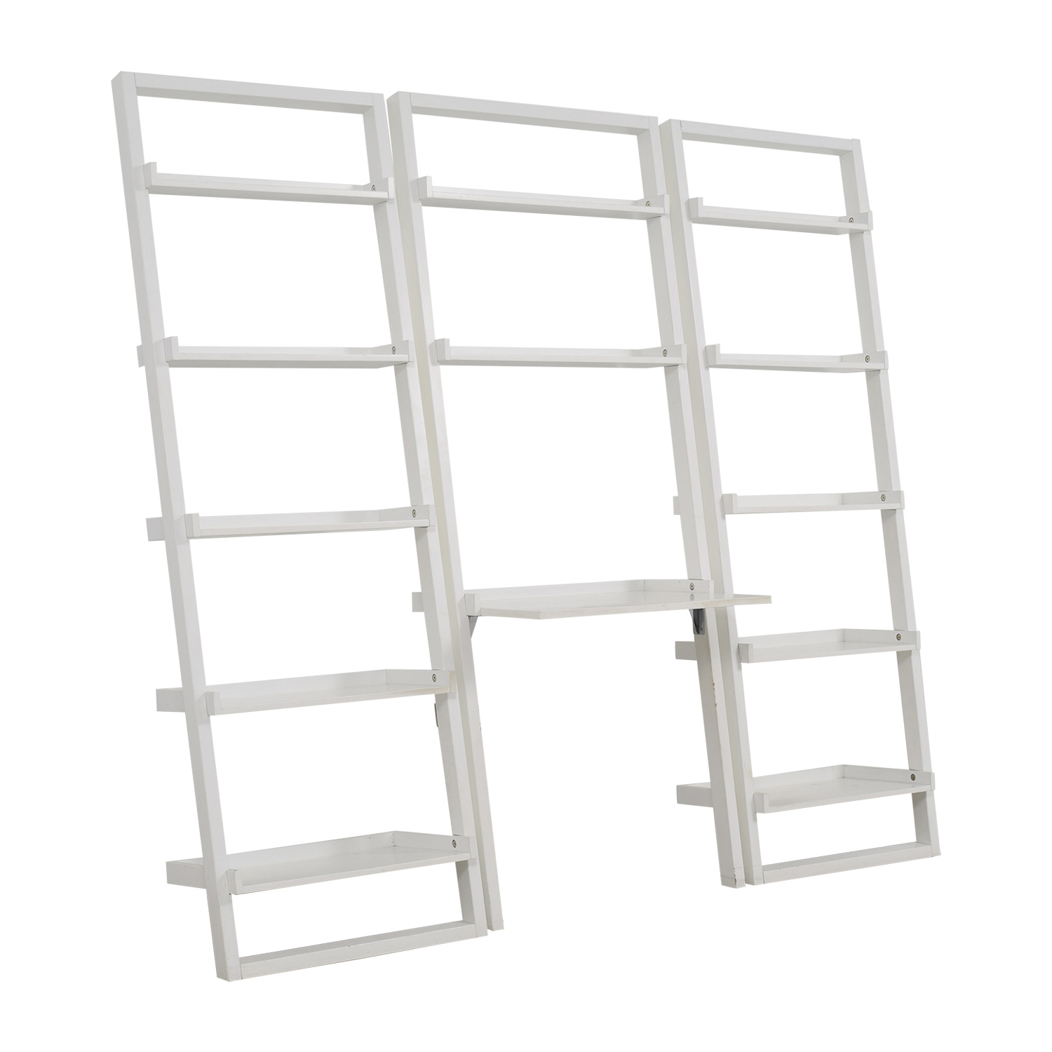 Crate & Barrel Crate & Barrel Leaning White Bookshelf discount
