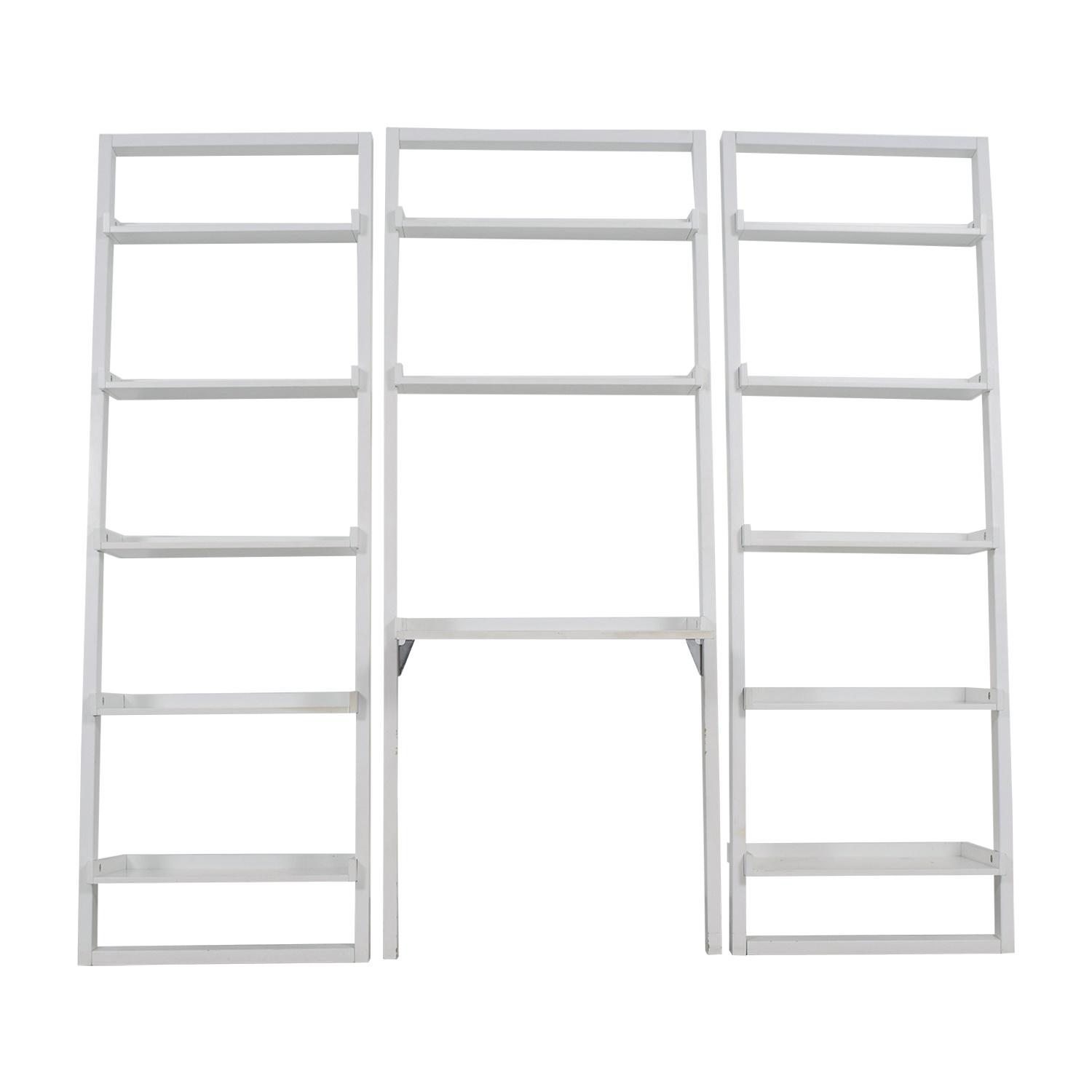 Crate & Barrel Crate & Barrel Leaning White Bookshelf dimensions