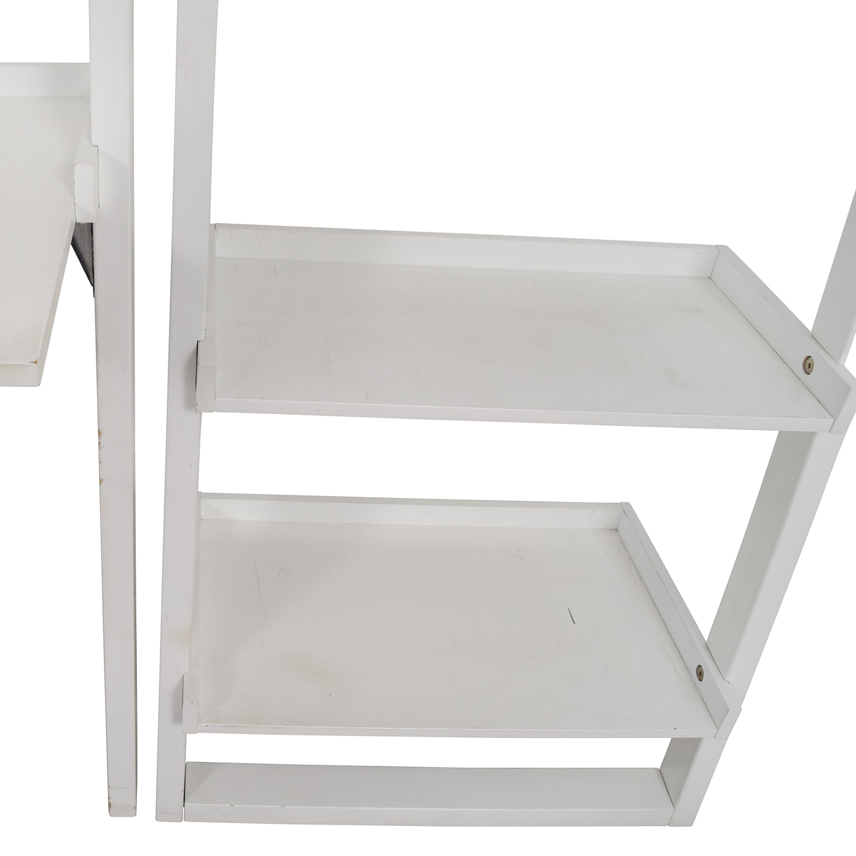 buy Crate & Barrel Leaning White Bookshelf Crate & Barrel
