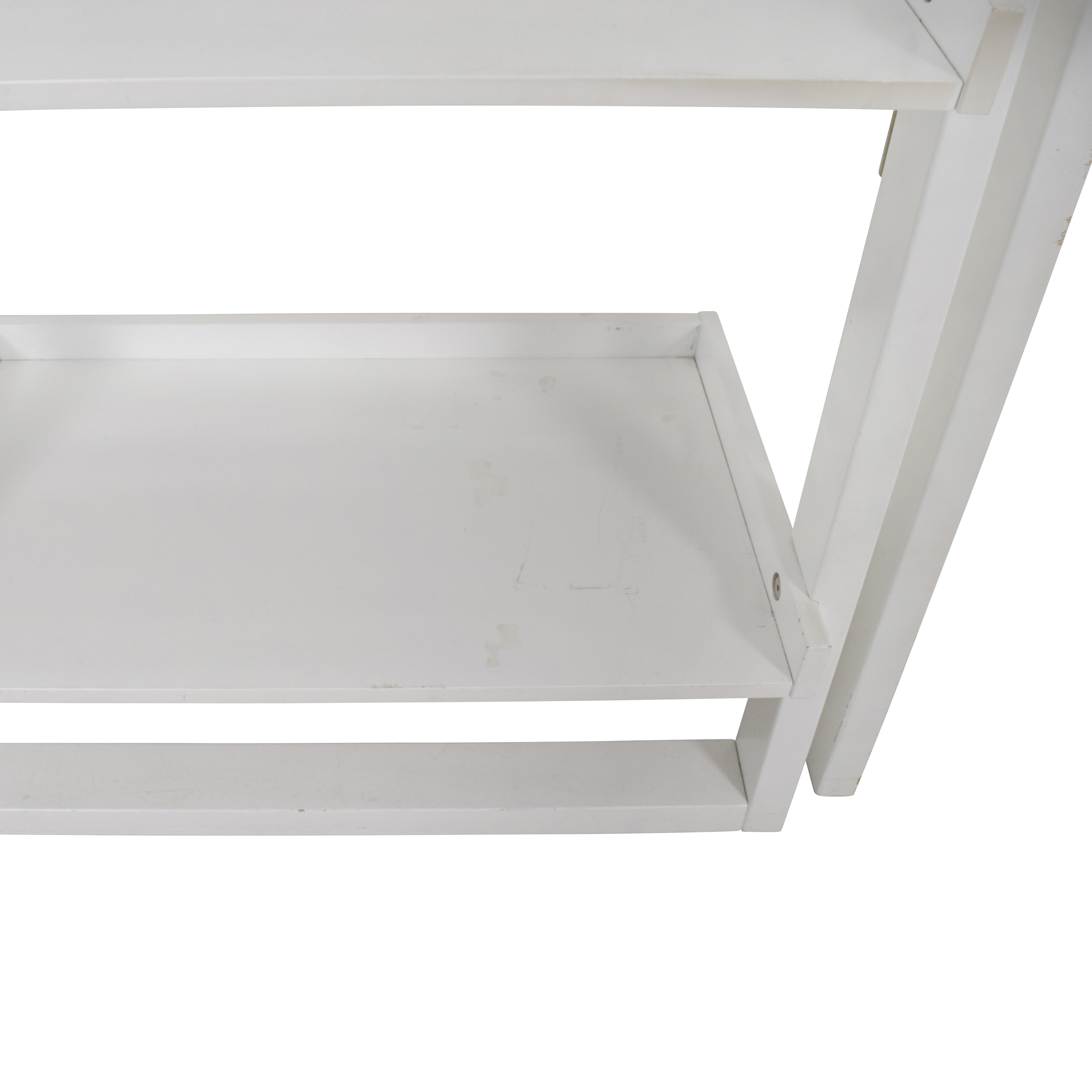 Crate & Barrel Crate & Barrel Leaning White Bookshelf second hand