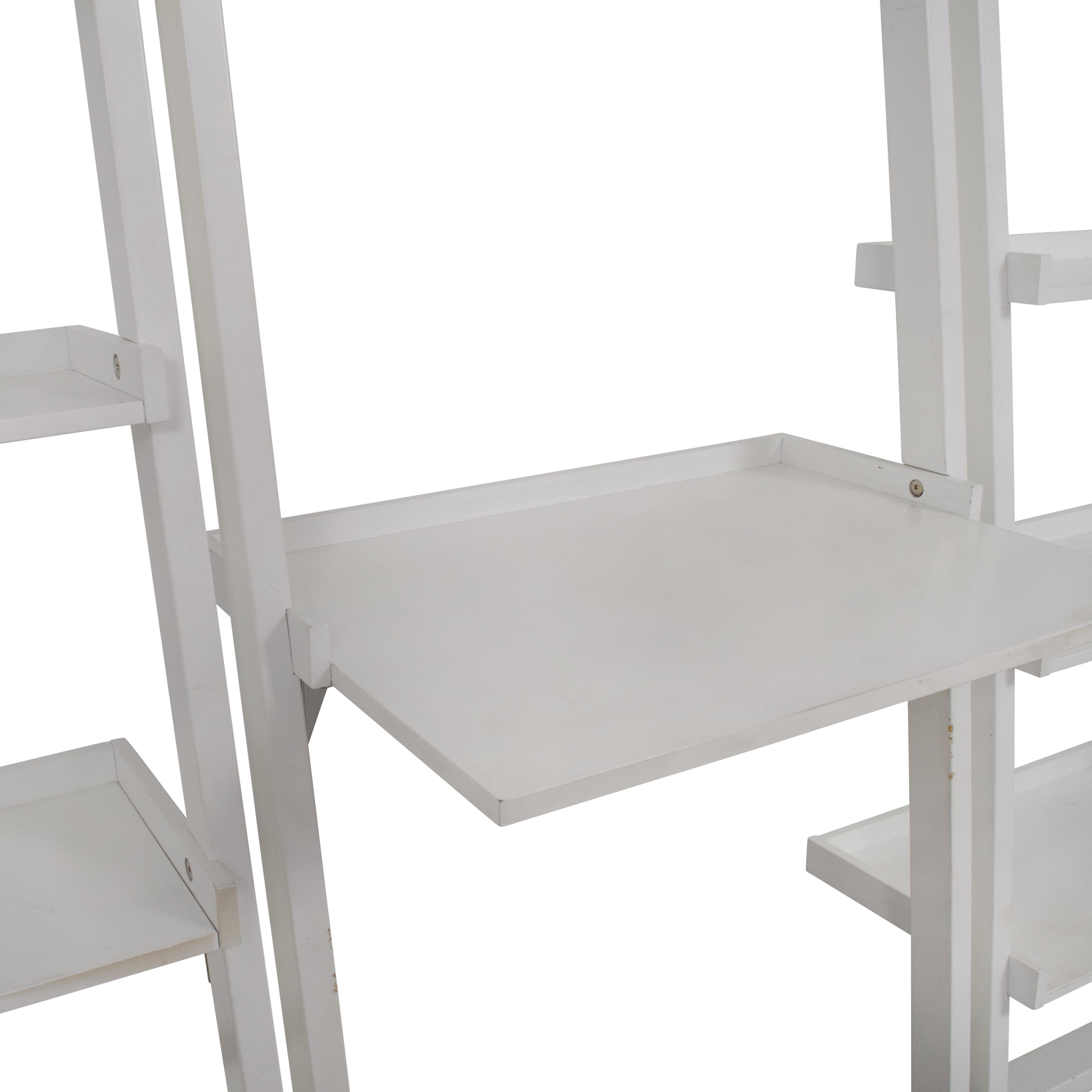Crate & Barrel Crate & Barrel Leaning White Bookshelf White